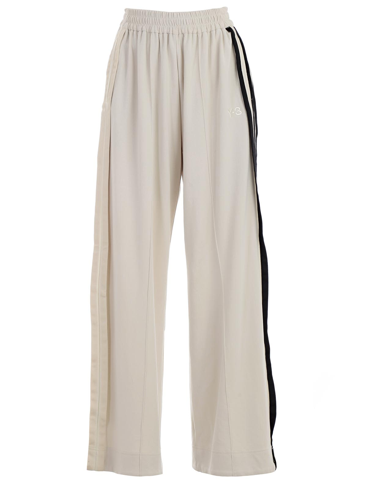 y-3 -  Striped Wide Leg Track Pants