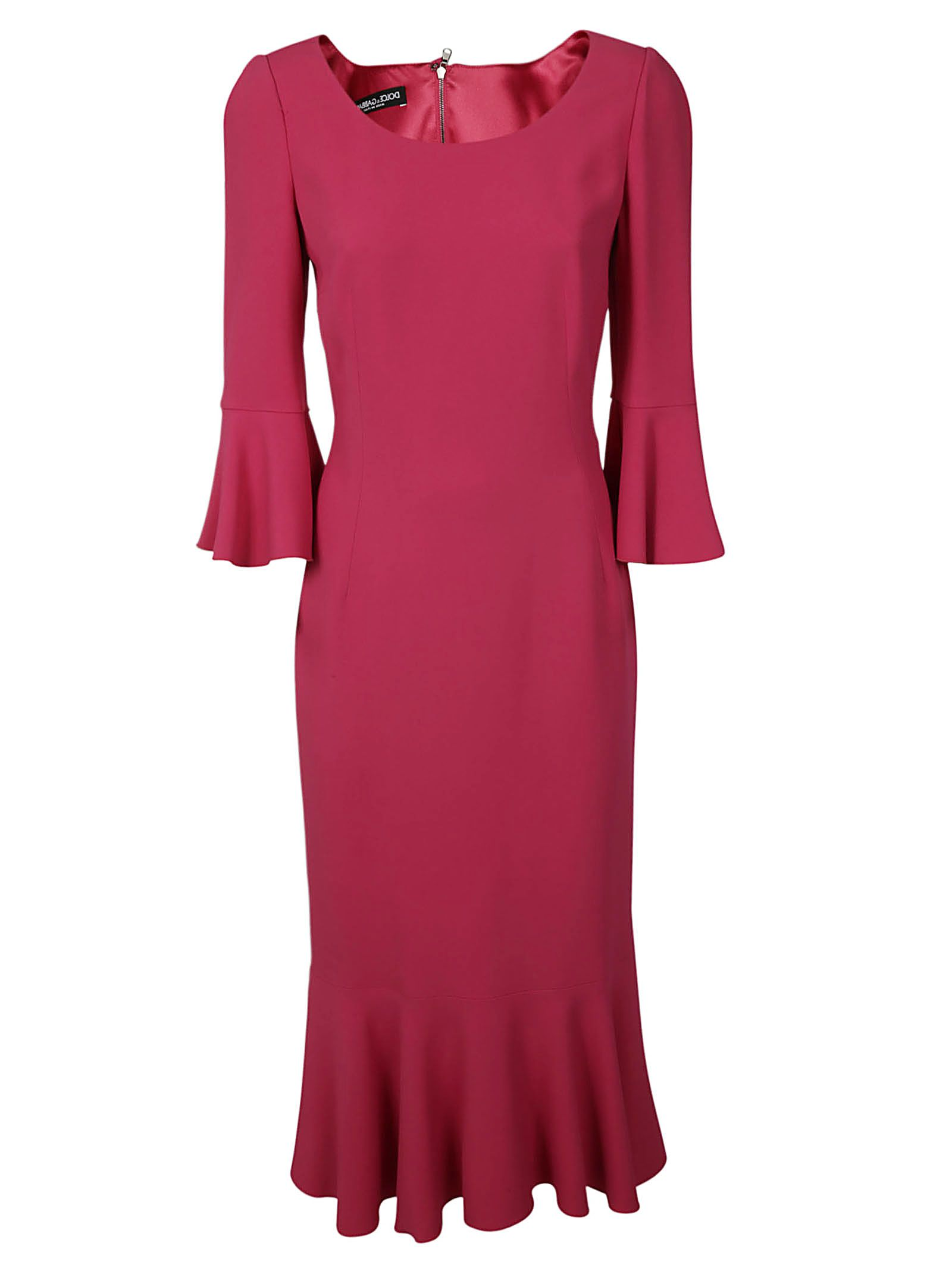 Dolce & Gabbana Frill Midi Dress