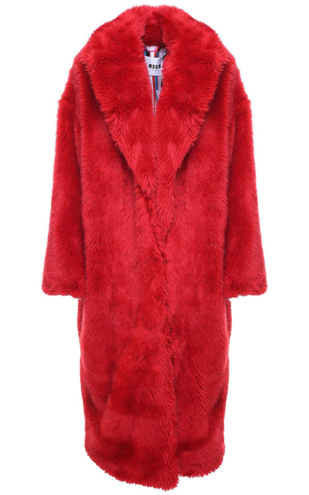 MSGM Faux-fur Coat