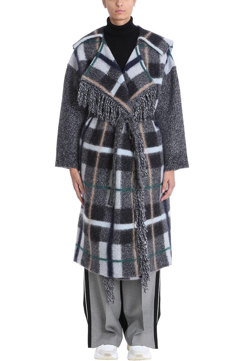Stella McCartney Checked Belted Cardigan Coat