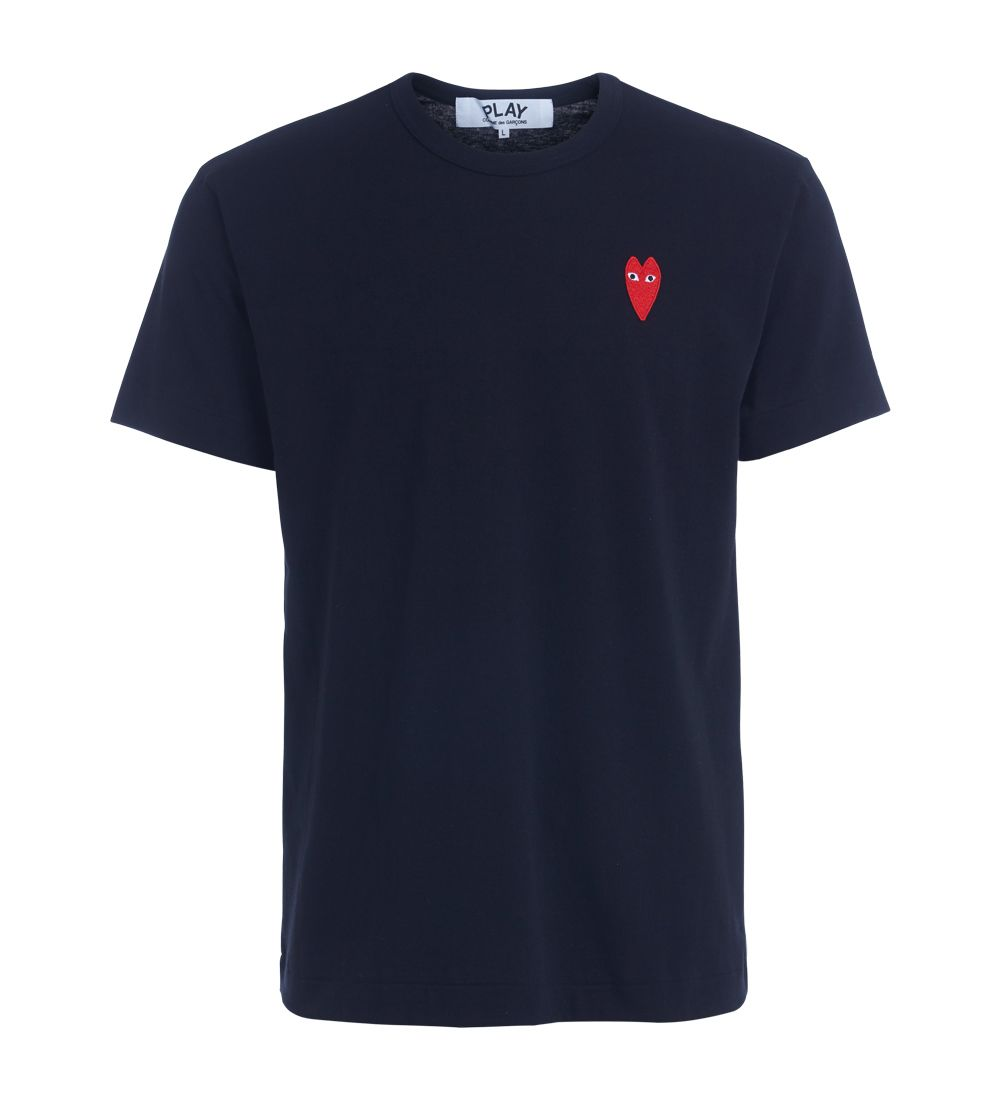 Comme Des Garçons Play Black T-shirt With Red Heart