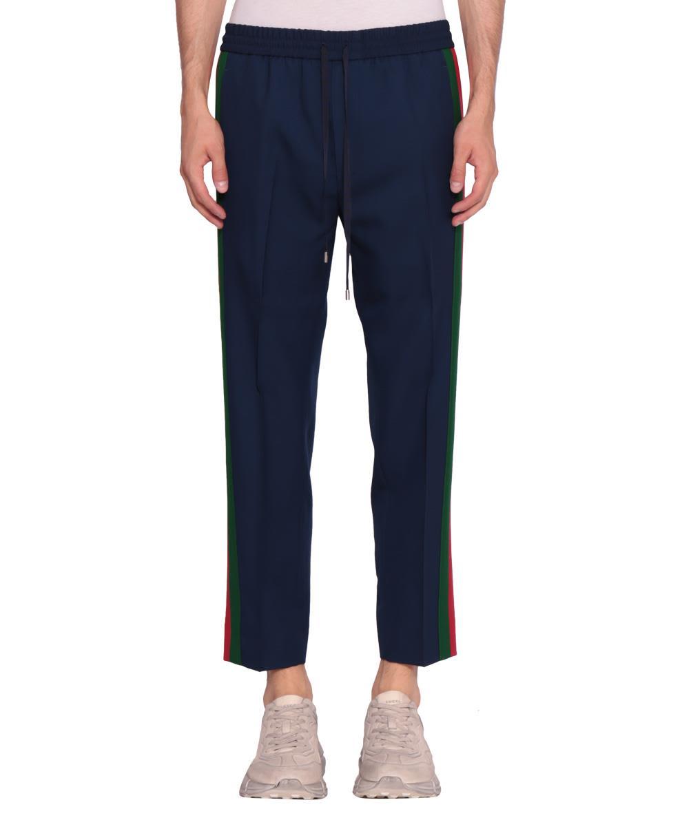 Gucci Wool Web Trousers