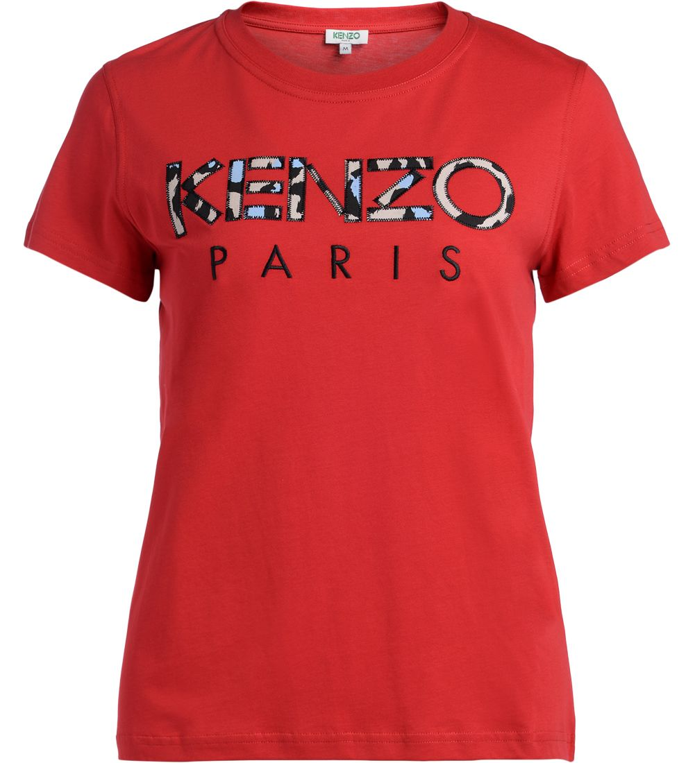 Kenzo Red Cotton T-shirt With Logo.