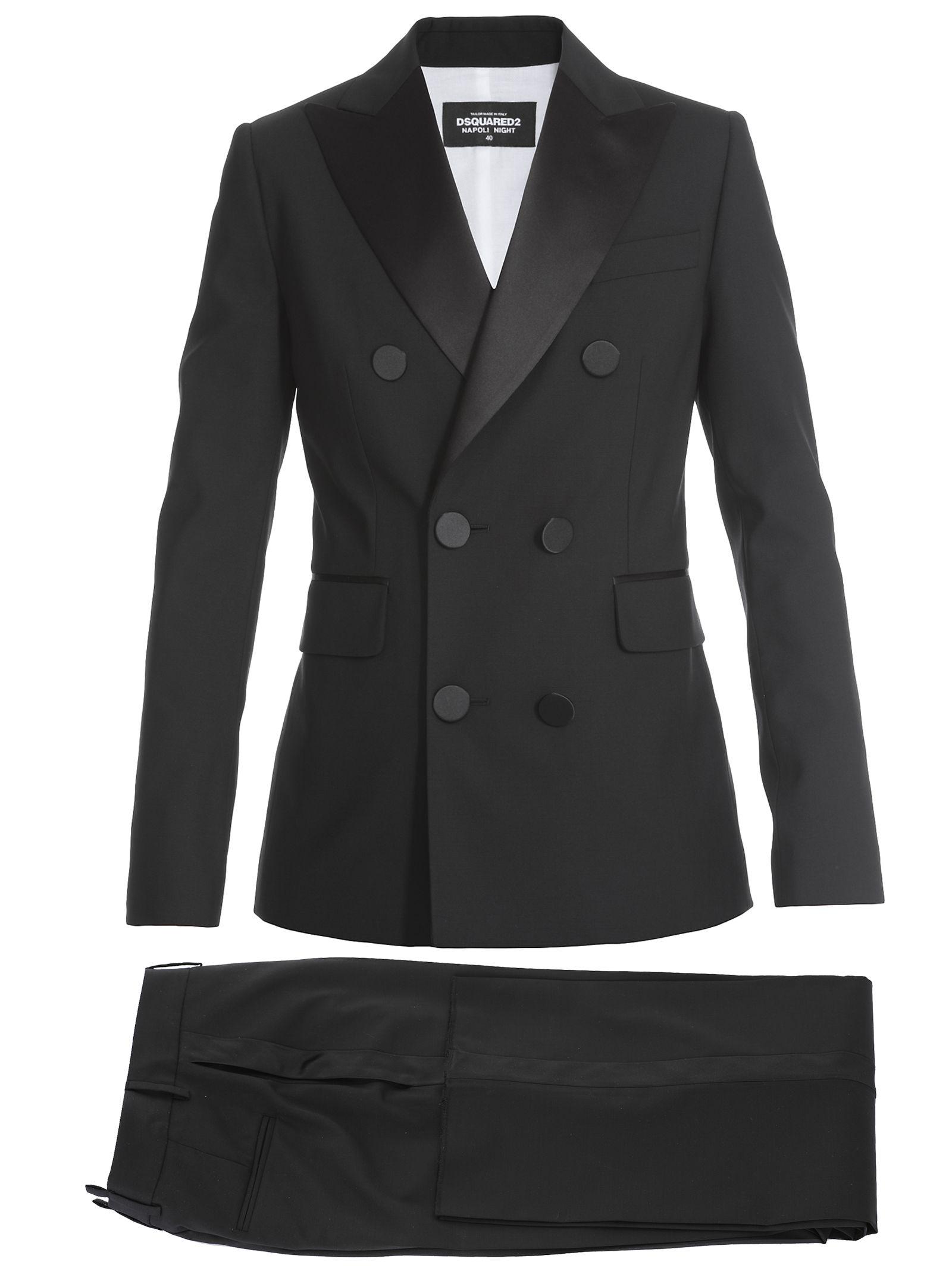 Virgin Wool Suit in Black