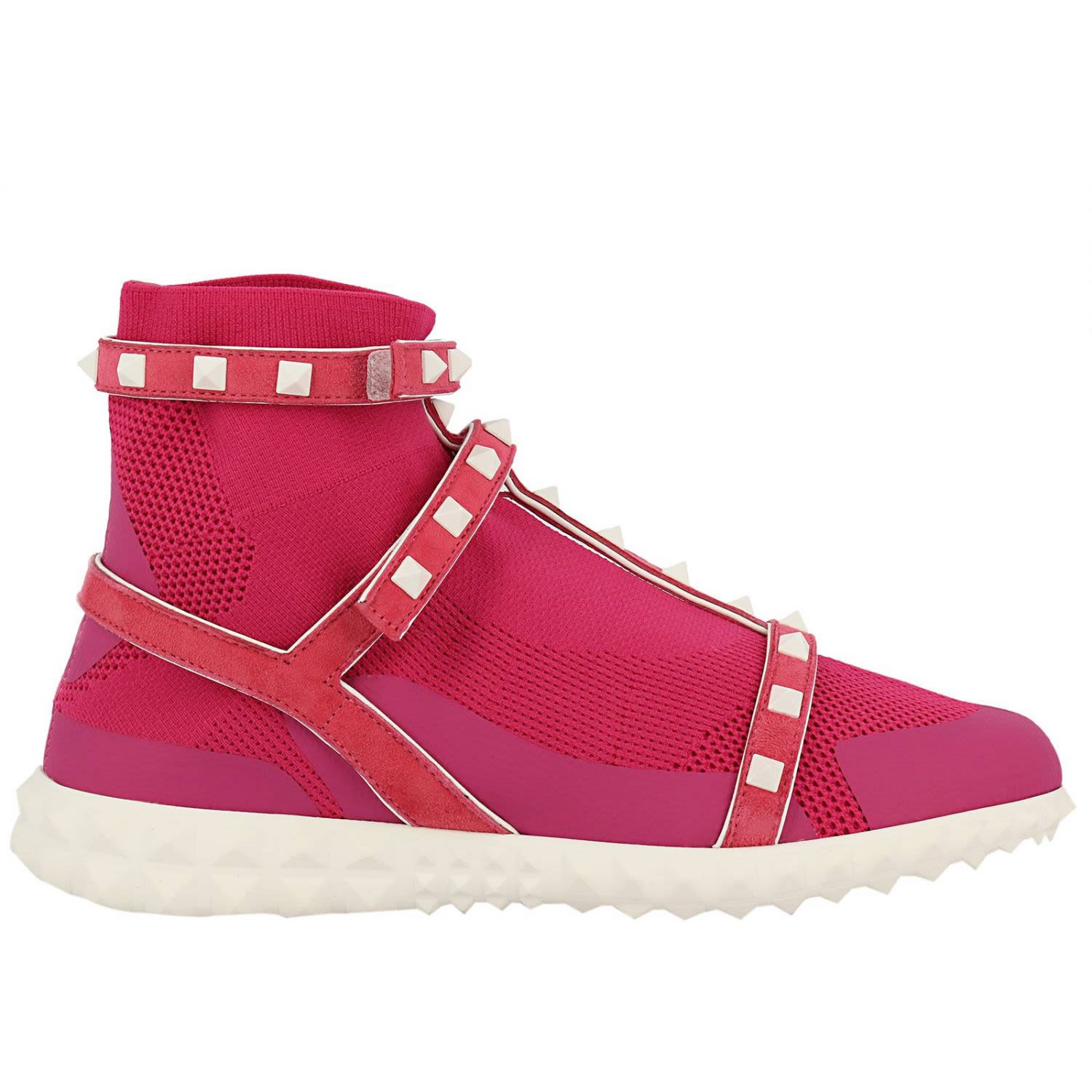 Valentino Garavani Sneakers Valentino Rockstud Bodytech Sneakers With Sock And Leather Bands With Co