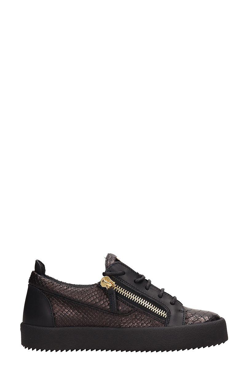 Giuseppe Zanotti Nicki Low Zip Sneakers