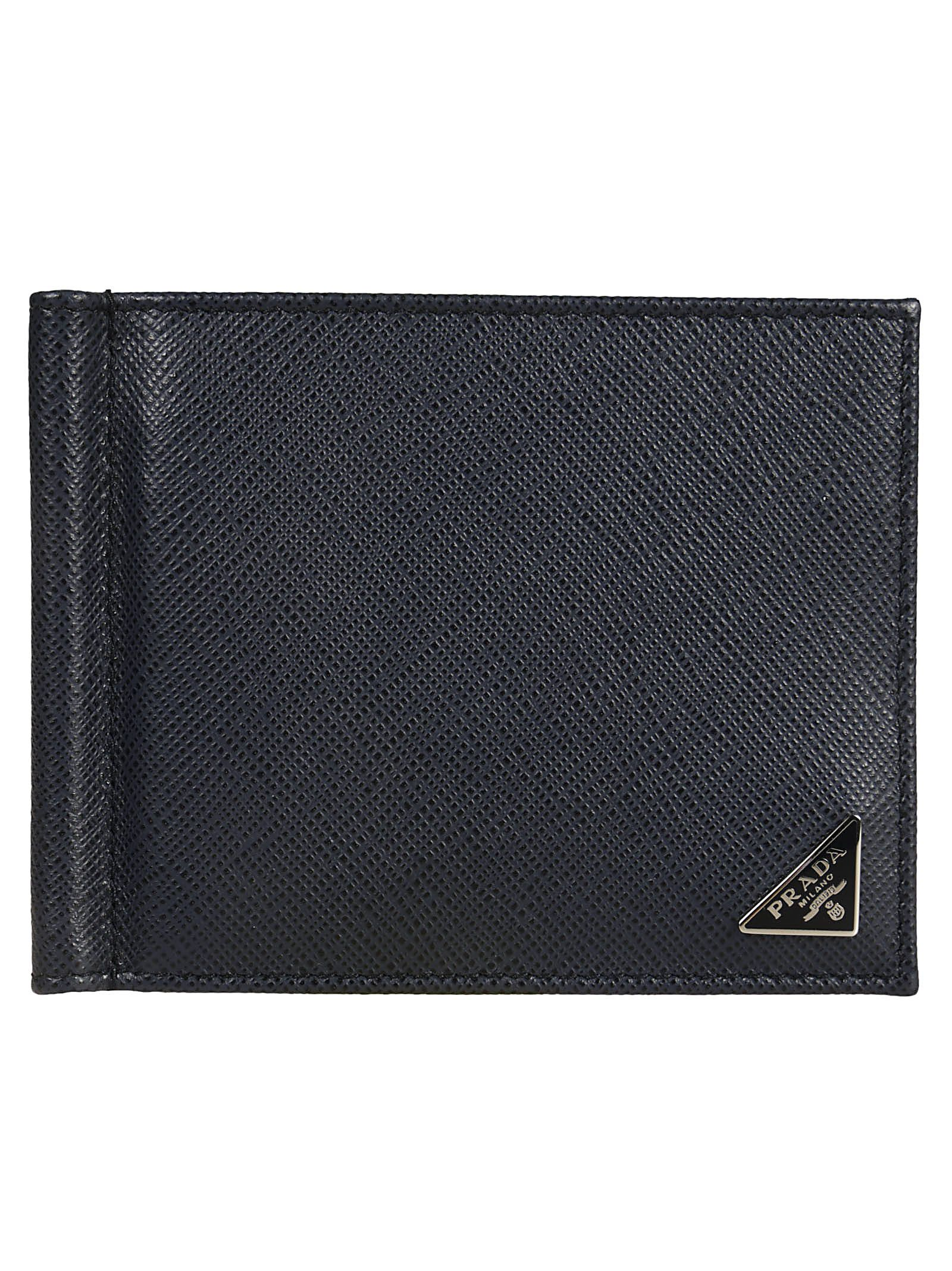 Prada Logo Grained Wallet