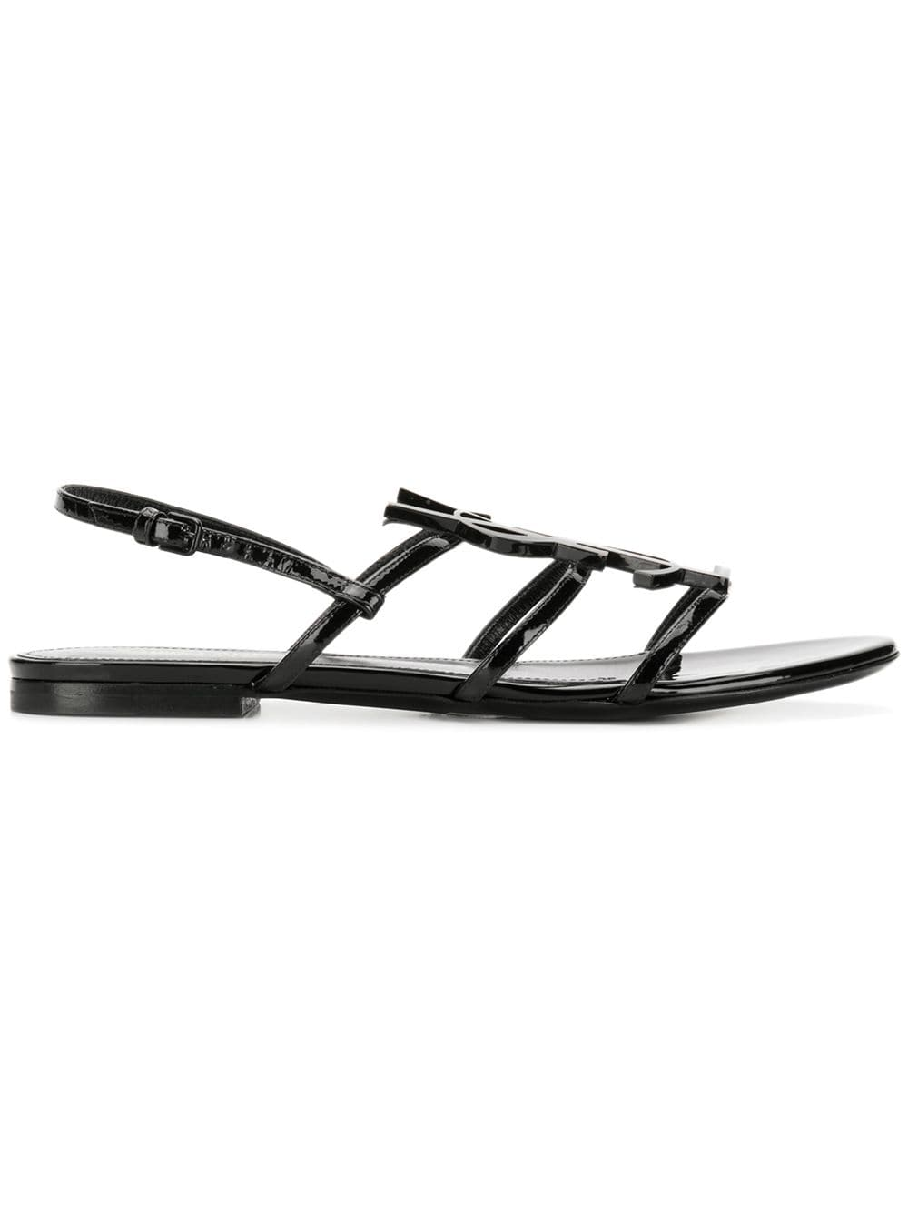 Saint Laurent Cassandra Flat Sandals