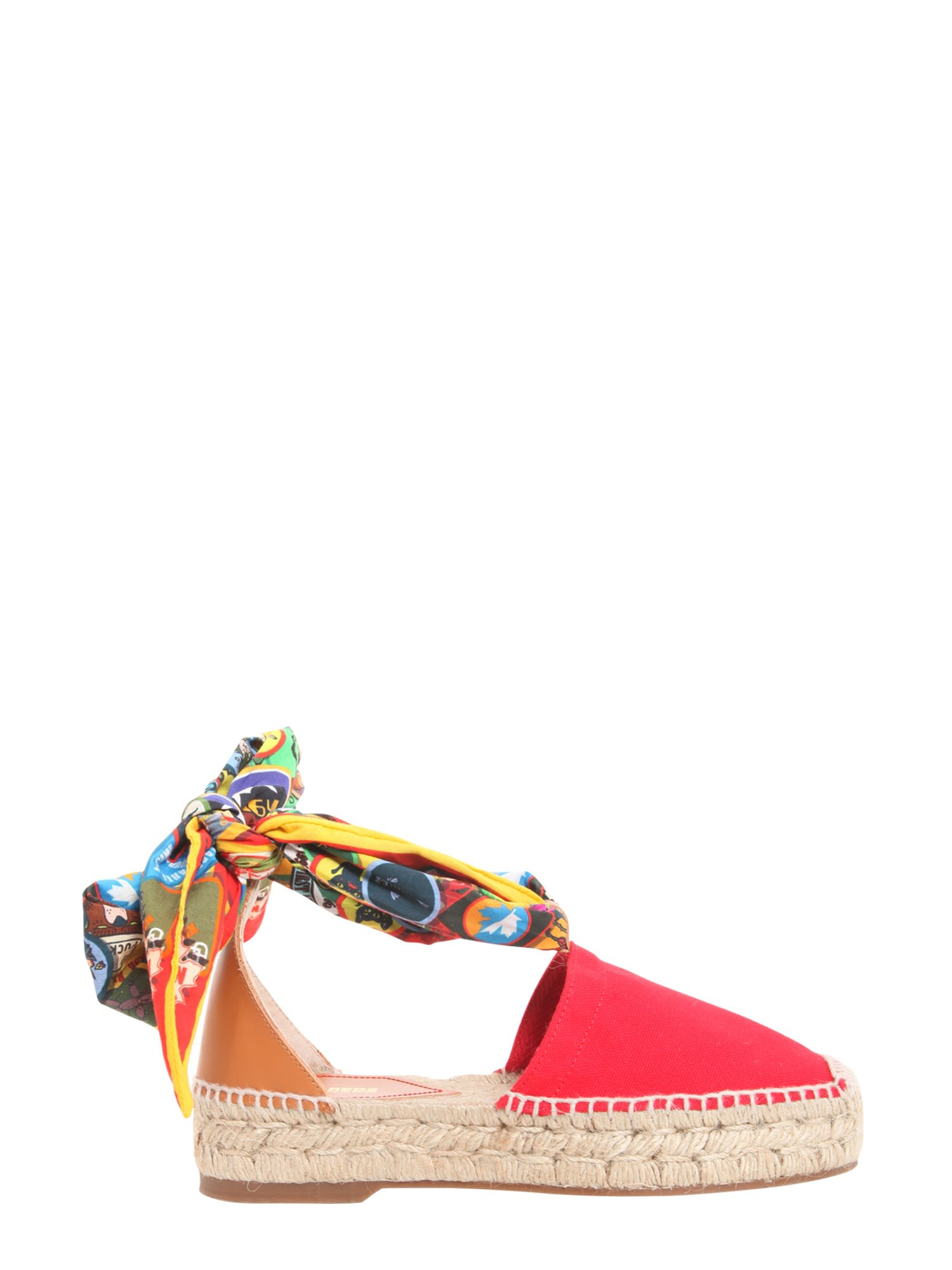 Dsquared2 Rope And Leather Espadrilles