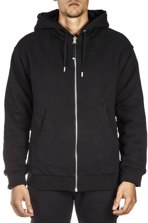Diesel Black Gold Black Wool And Cotton Reversible Sweatshirt