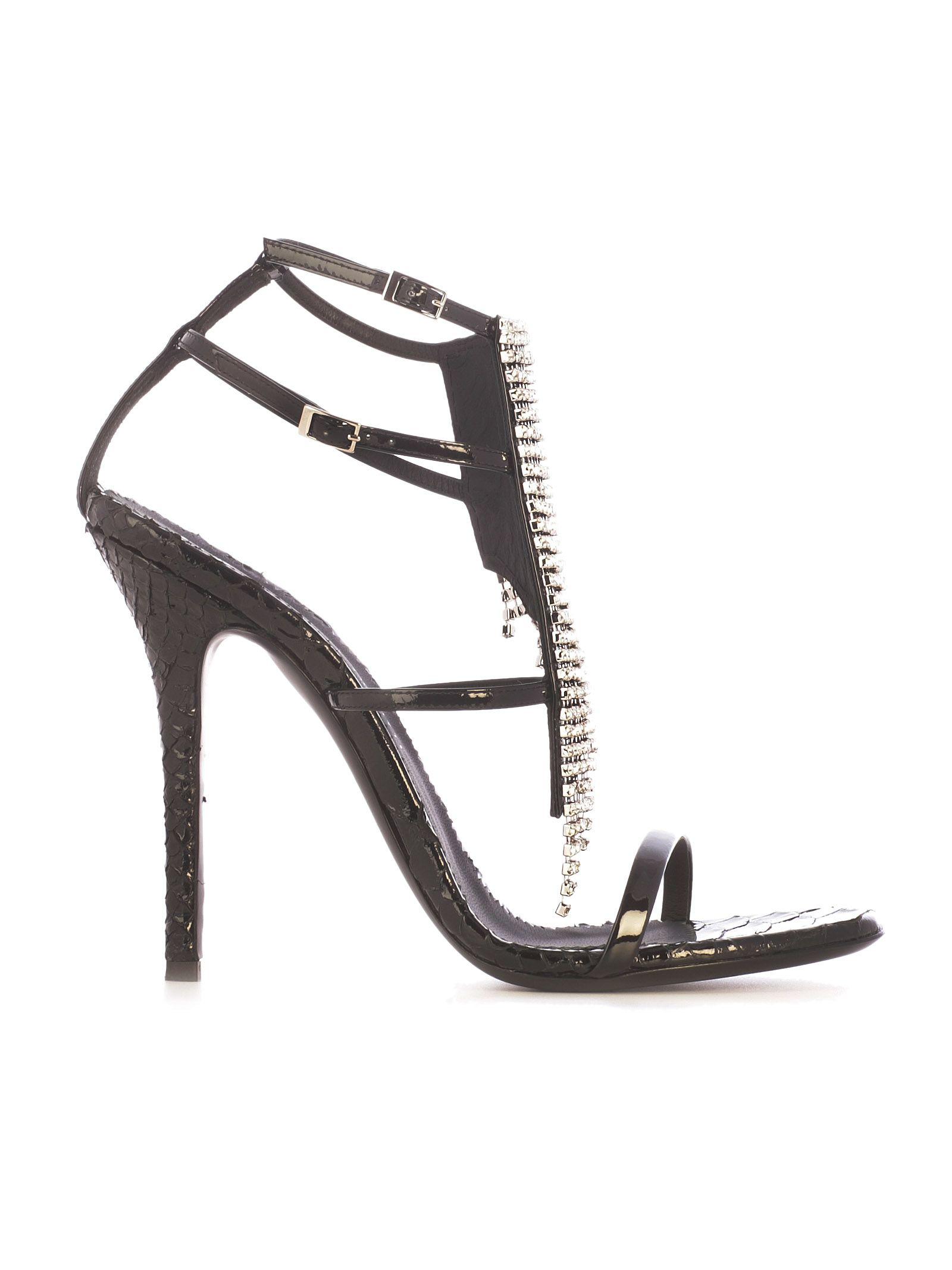 Giuseppe Zanotti Design Crystal Sandals