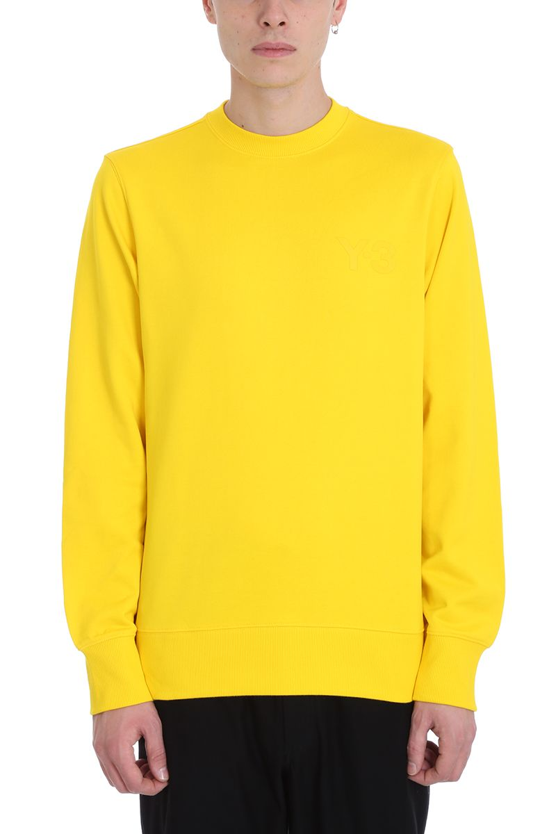 Y-3 Yellow Cotton Sweatshirt