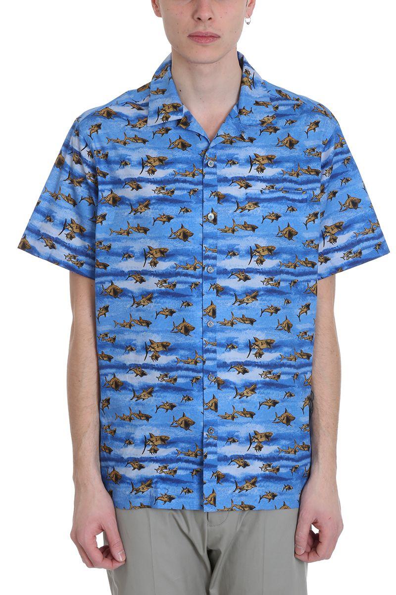 Lanvin Shark Blue Cotton Shirt