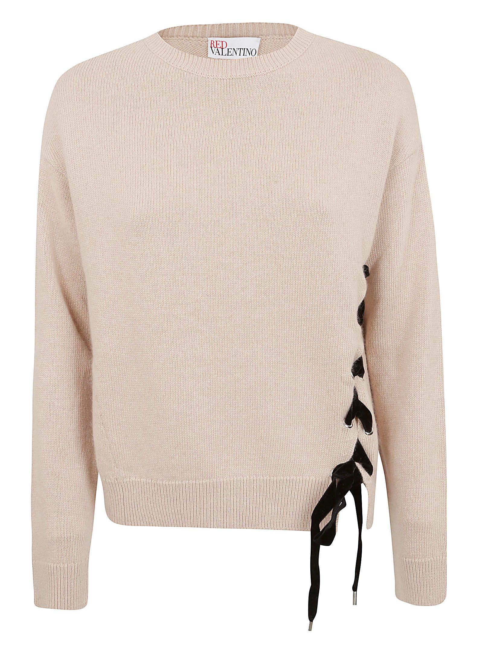 Red Valentino Lace-up Jumper