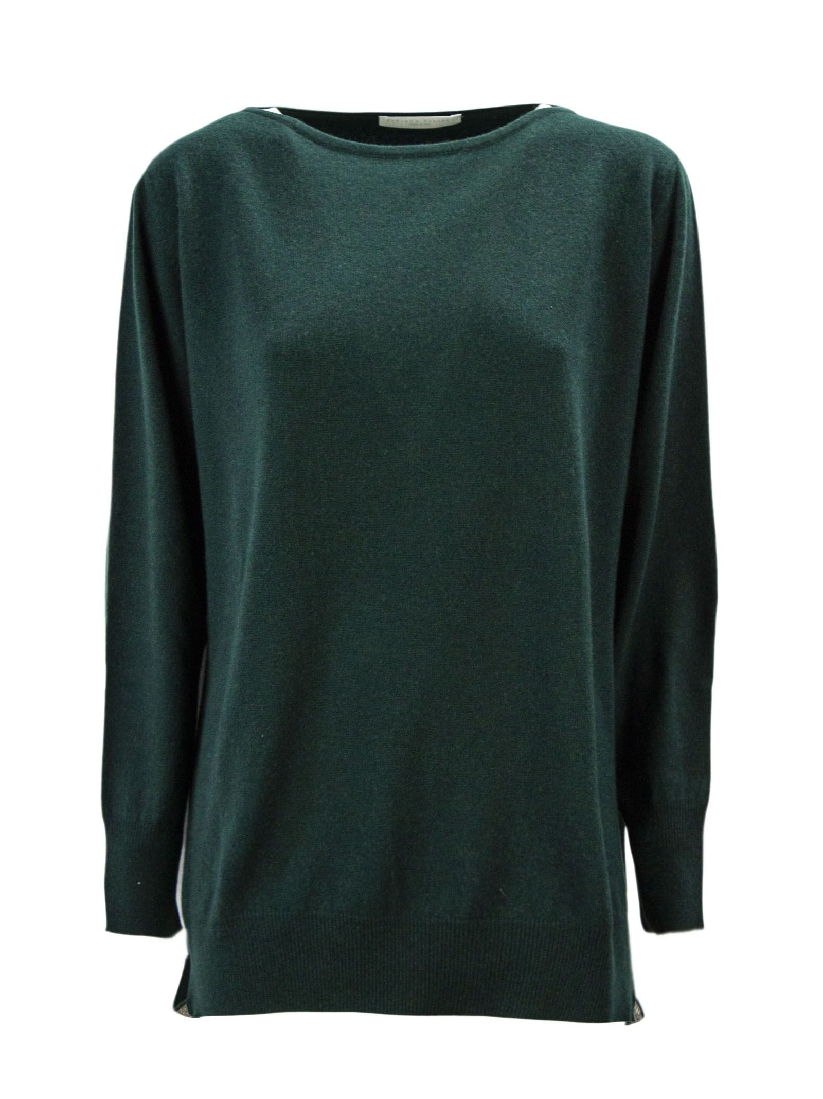 Fabiana Filippi Green Merino Wool Blend Jumper.
