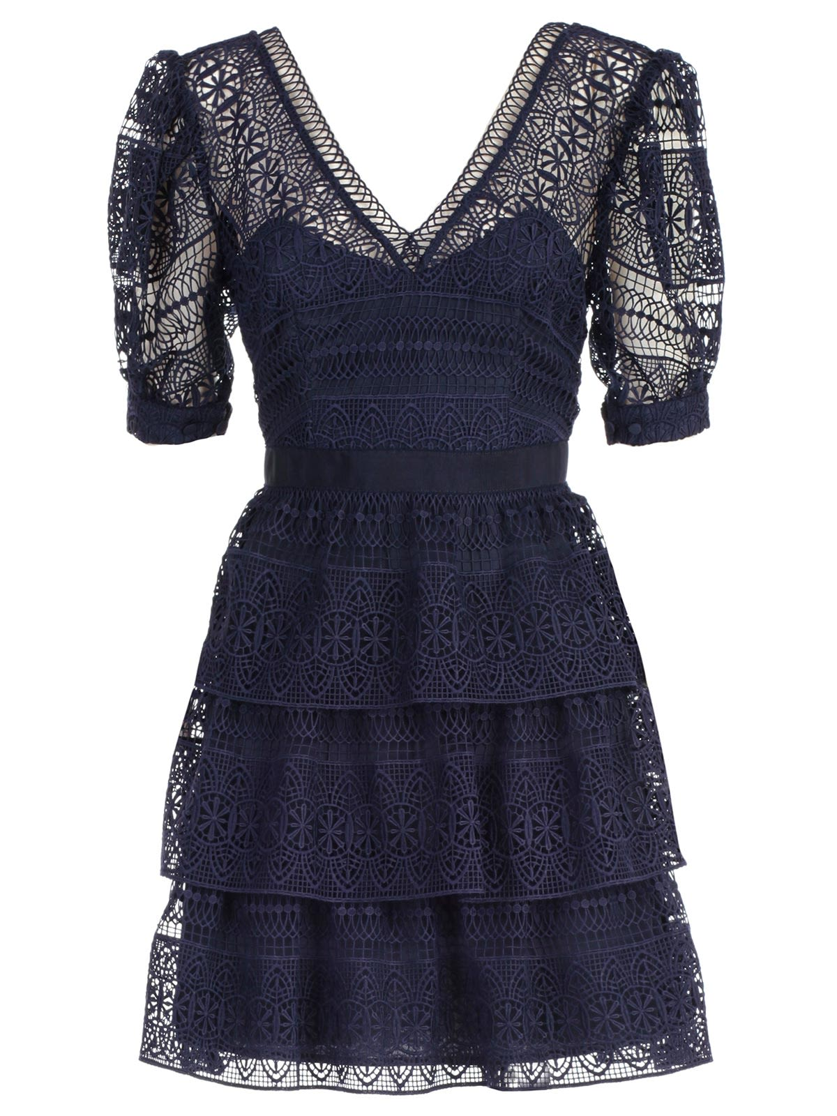 Dress Mini Spiral Panel Lace