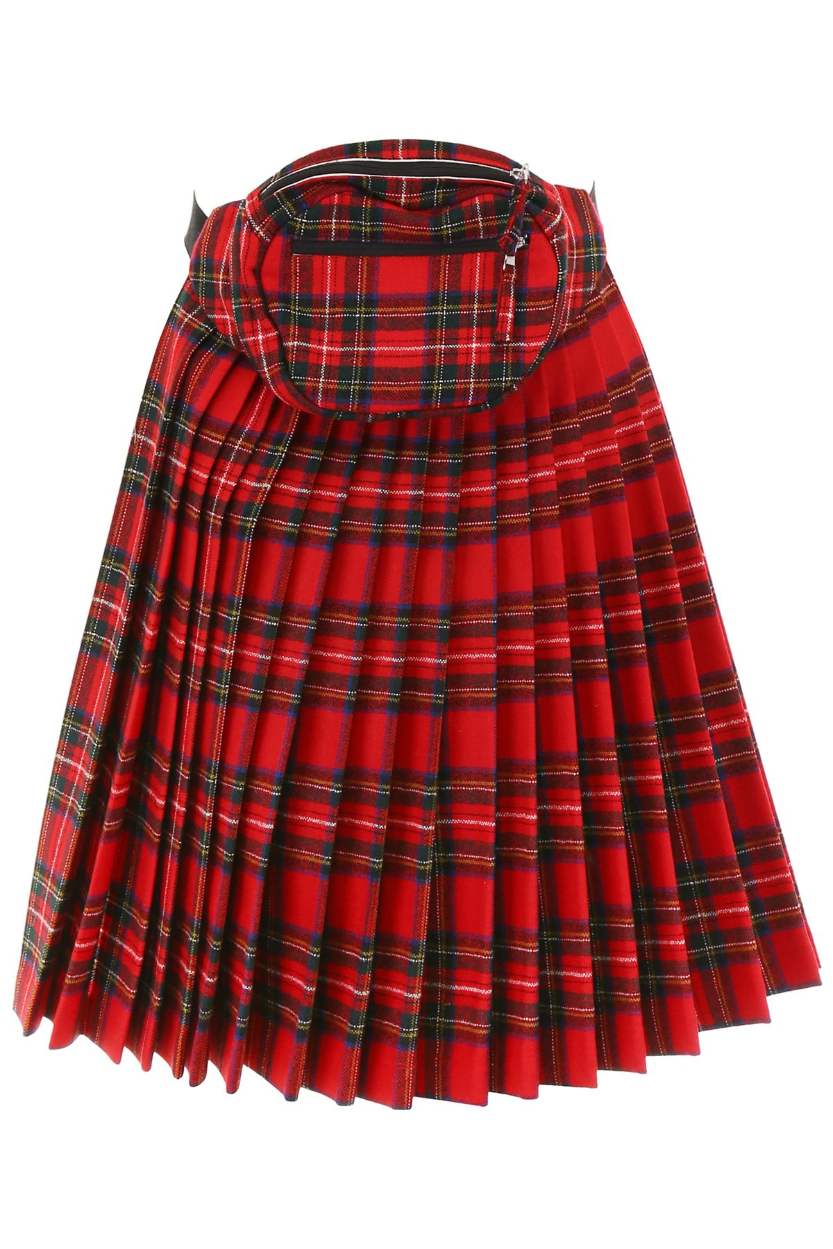 R13 Panel Skirt With Beltbag