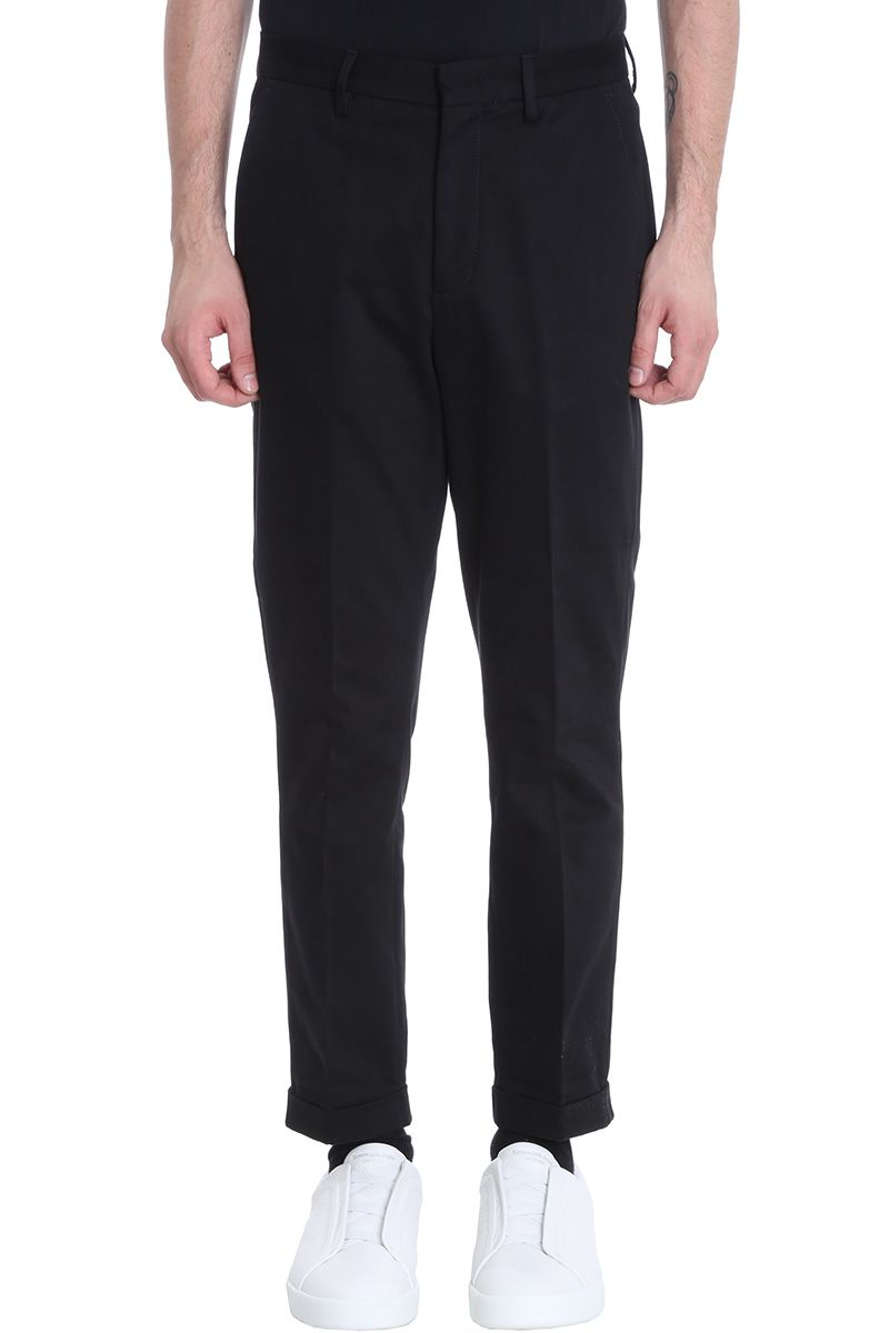 Z Zegna Black Cotton Pants