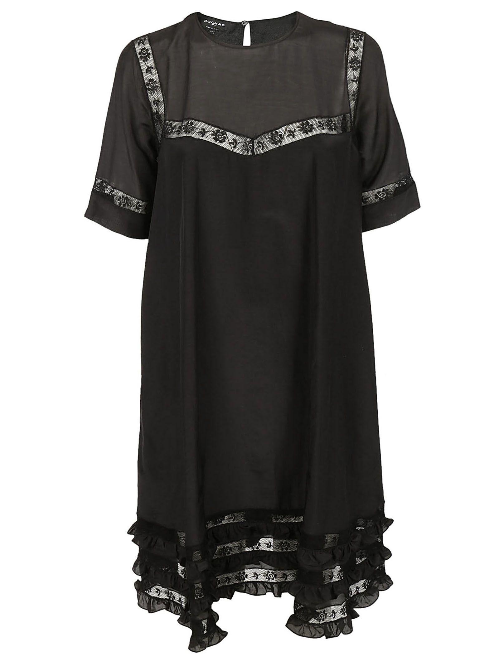 Rochas Lace Detail Dress