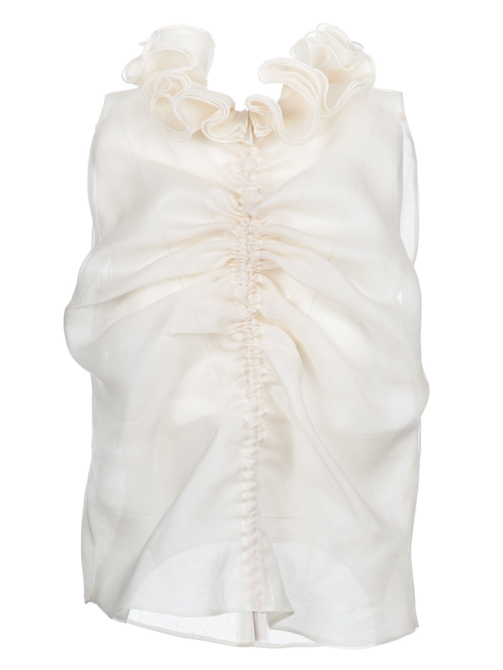 Giuseppe Di Morabito Ruffled Sheer Top