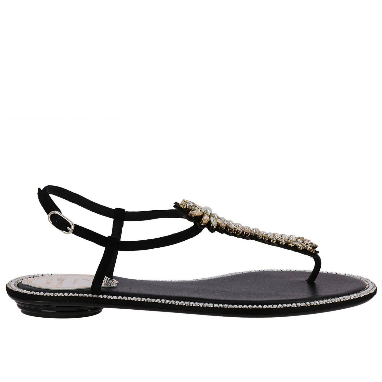 Rene Caovilla Flat Sandals Shoes Women Rene Caovilla
