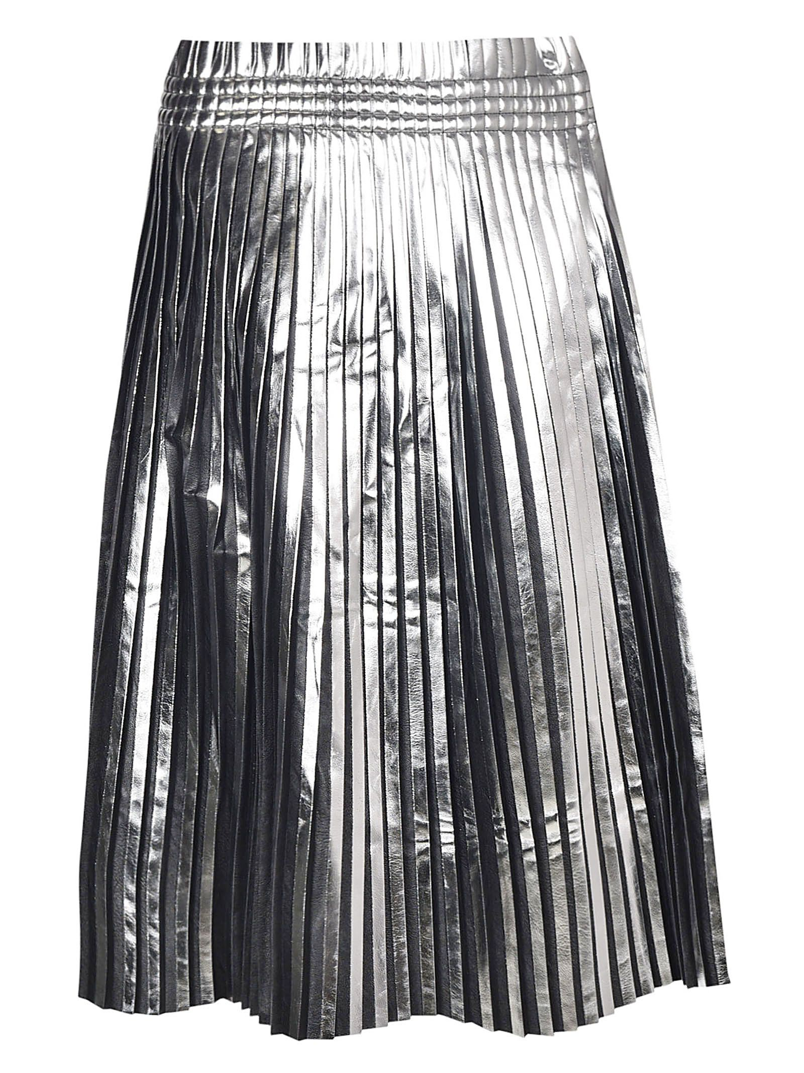 mm6 maison margiela -  Paper Bag Waist Pleated Midi Skirt