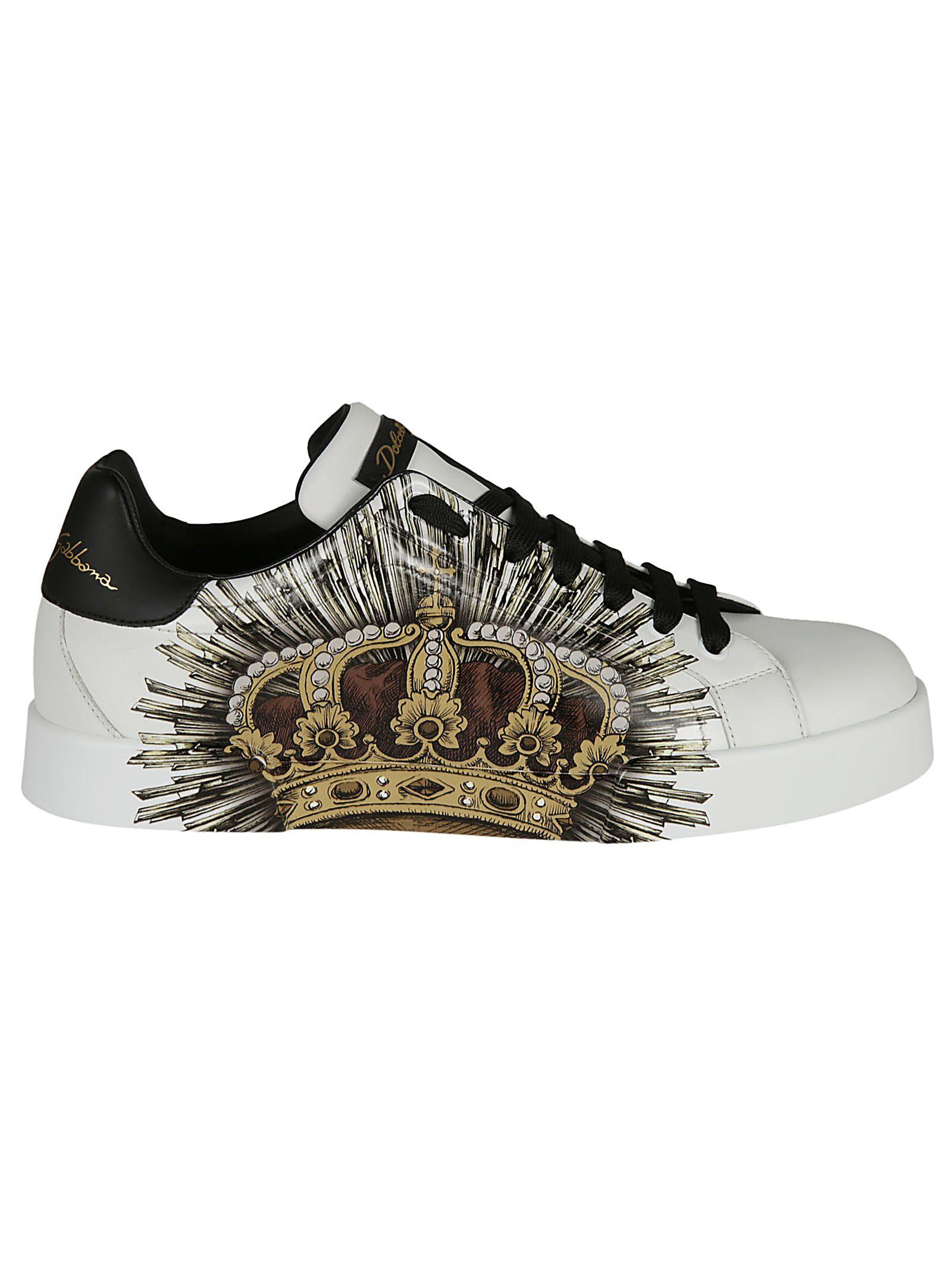 Dolce & Gabbana Graffiti Crown Print Sneakers