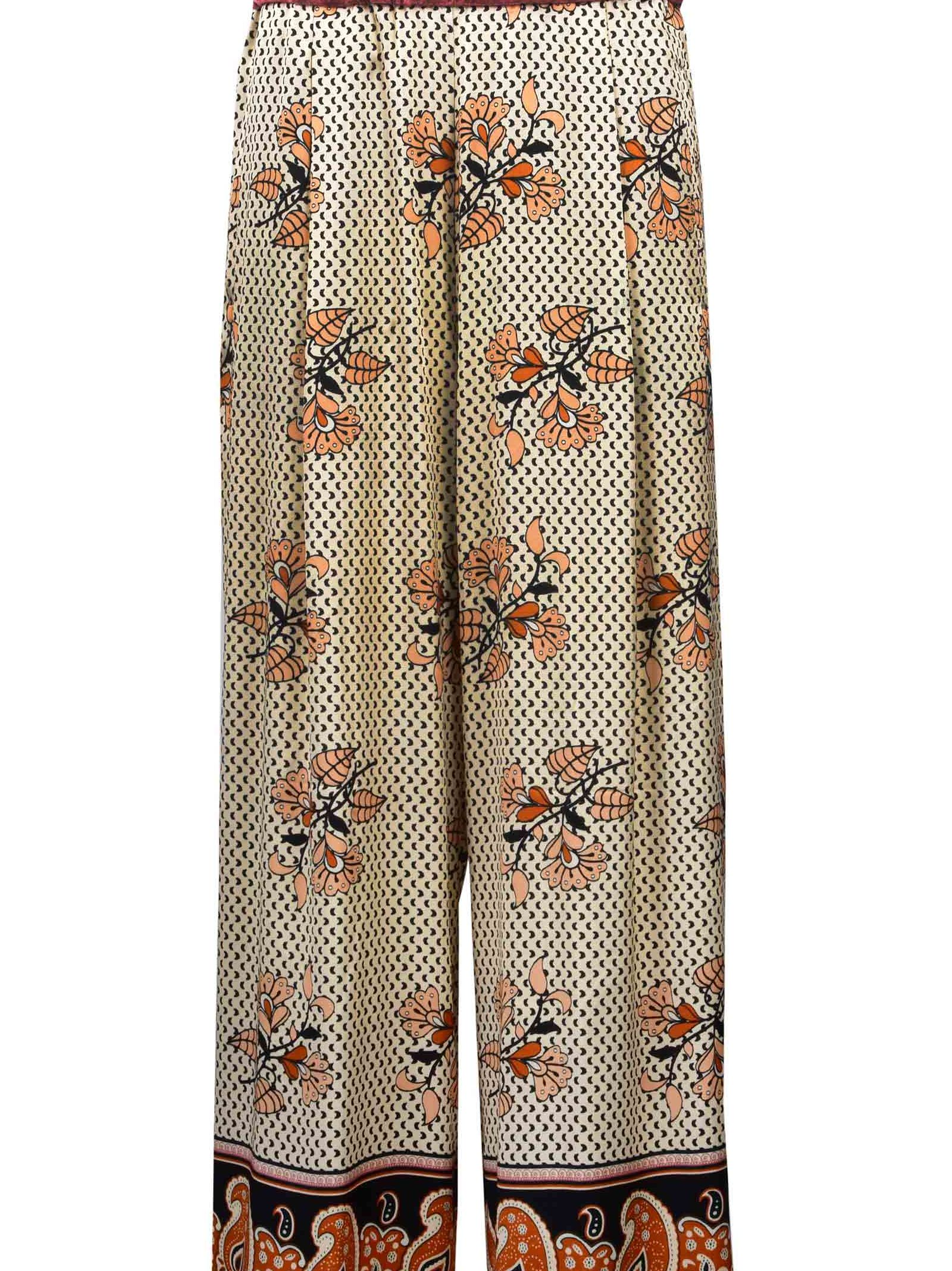 Forte Forte Printed Wide Trousers