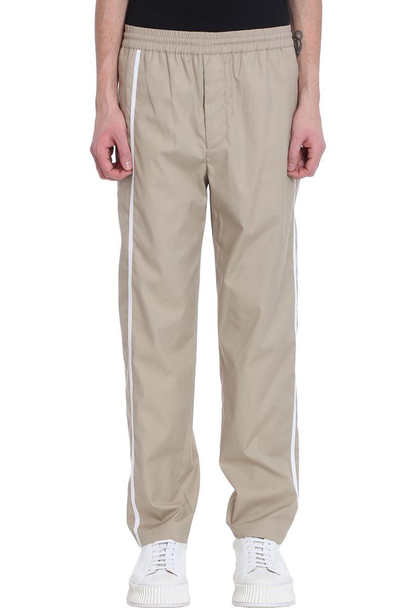 Helmut Lang Beige Cotton Trousers