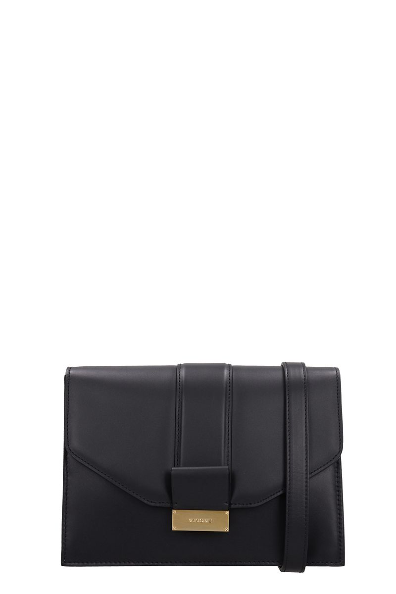 Visone Carrie Small Black Leather Bag