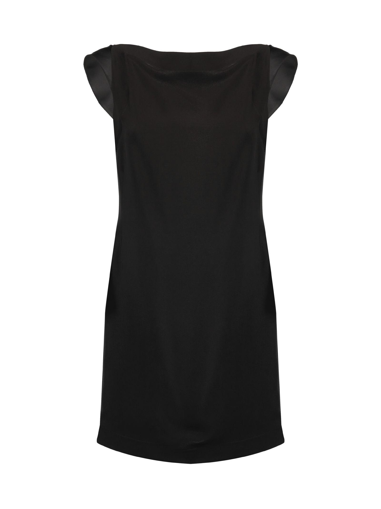 Calvin Klein Scoop-back Crepe Mini Dress