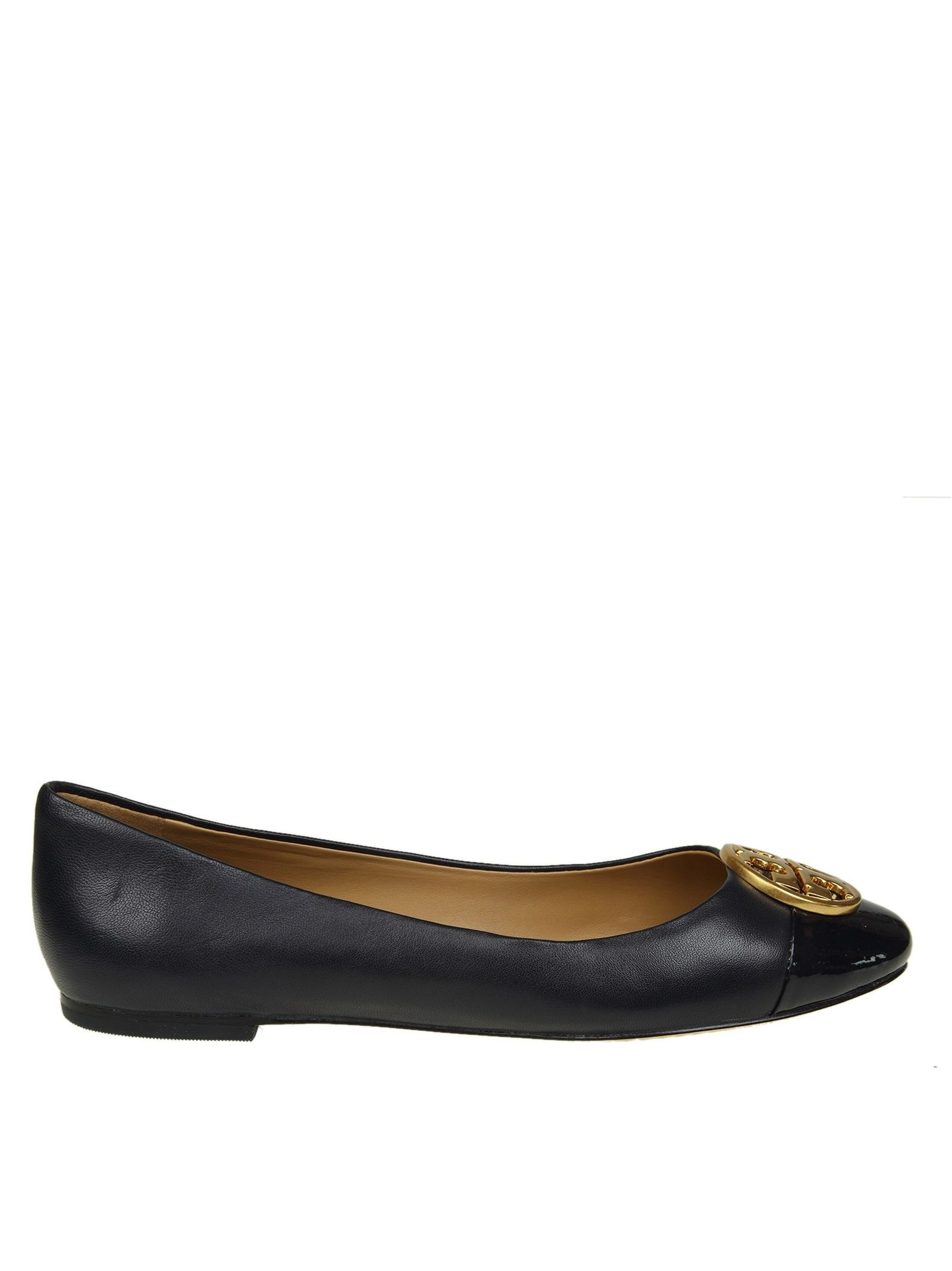 """Tory Burch """"chealsea"""" Flat In Blue Leather"""