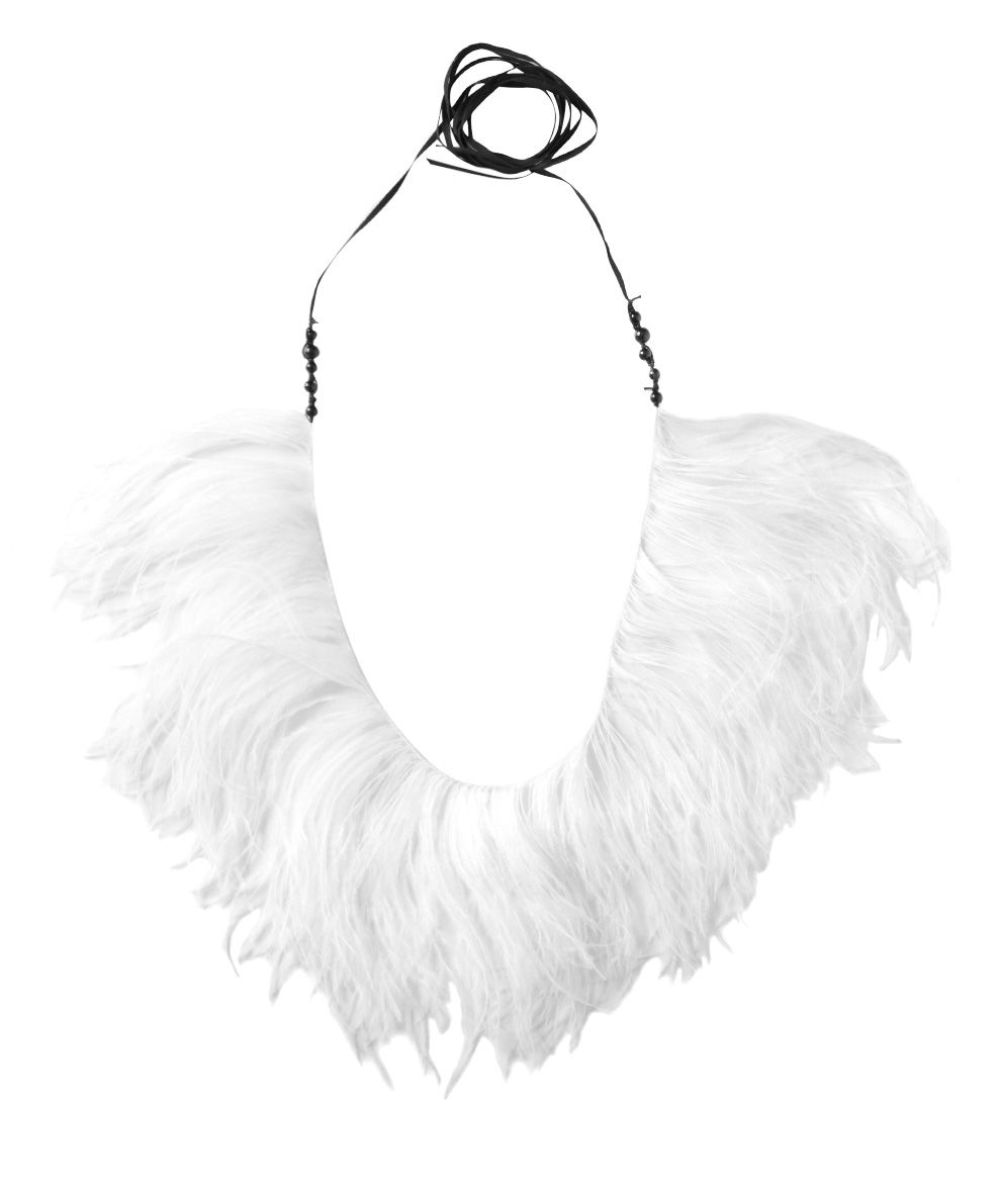 Ann Demeulemeester Ostrich Feathers Necklace