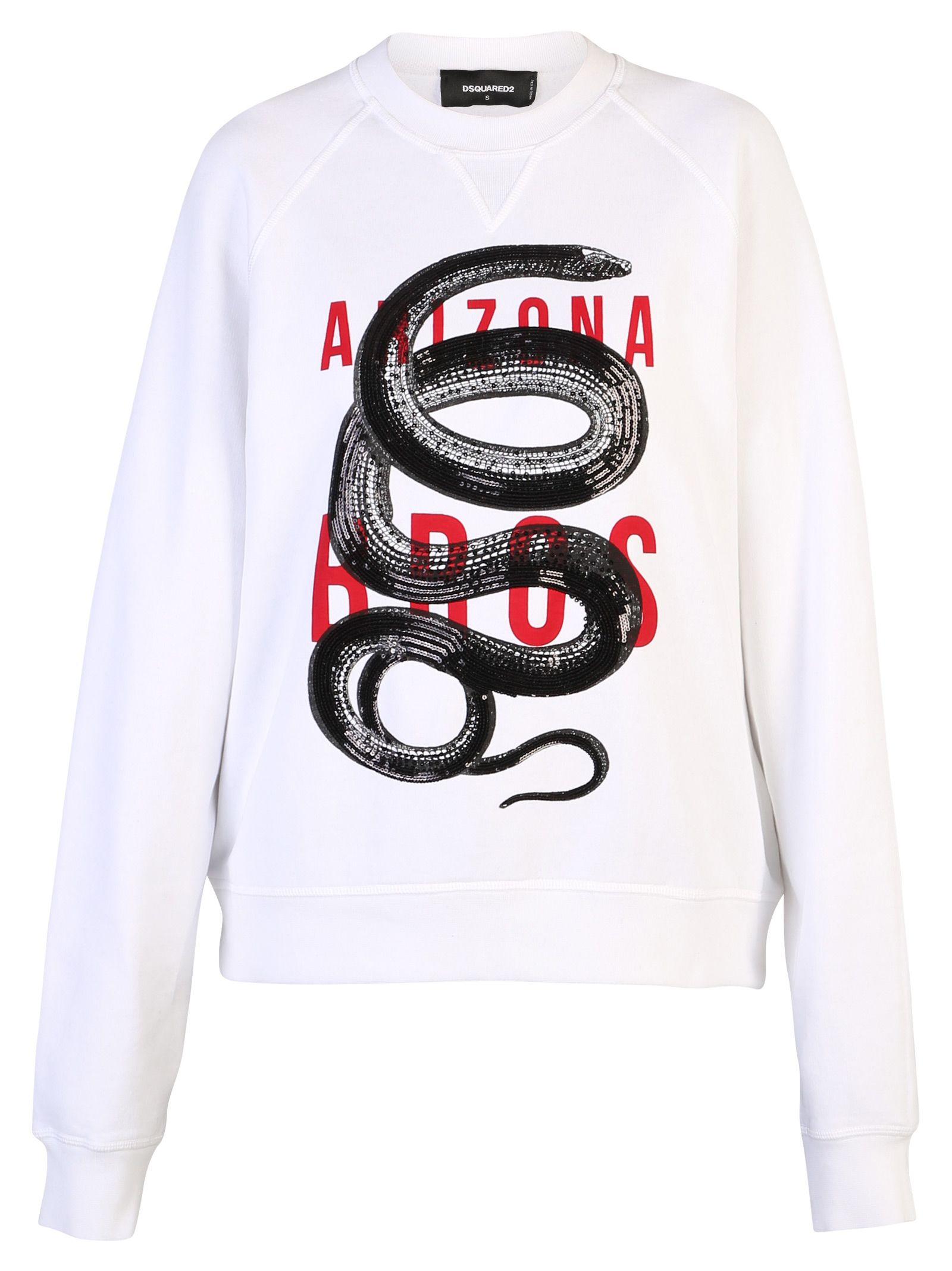 Dsquared2 White Embroidered Sweatshirt