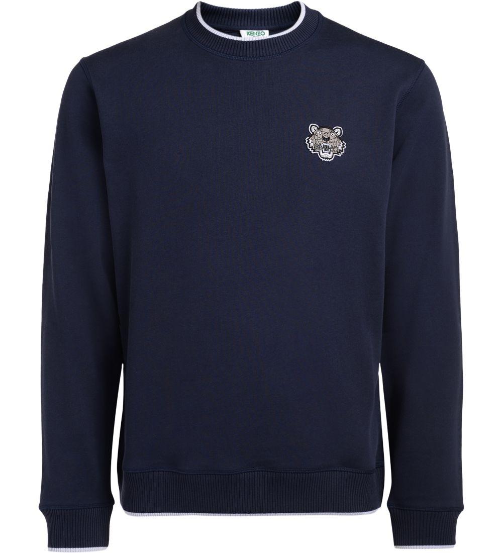 Kenzo Blue Tiger Logo Fleece