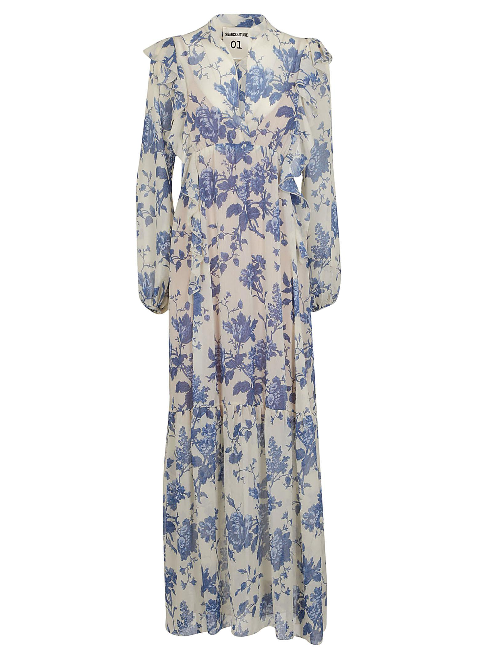 Semicouture Floral Print Dress