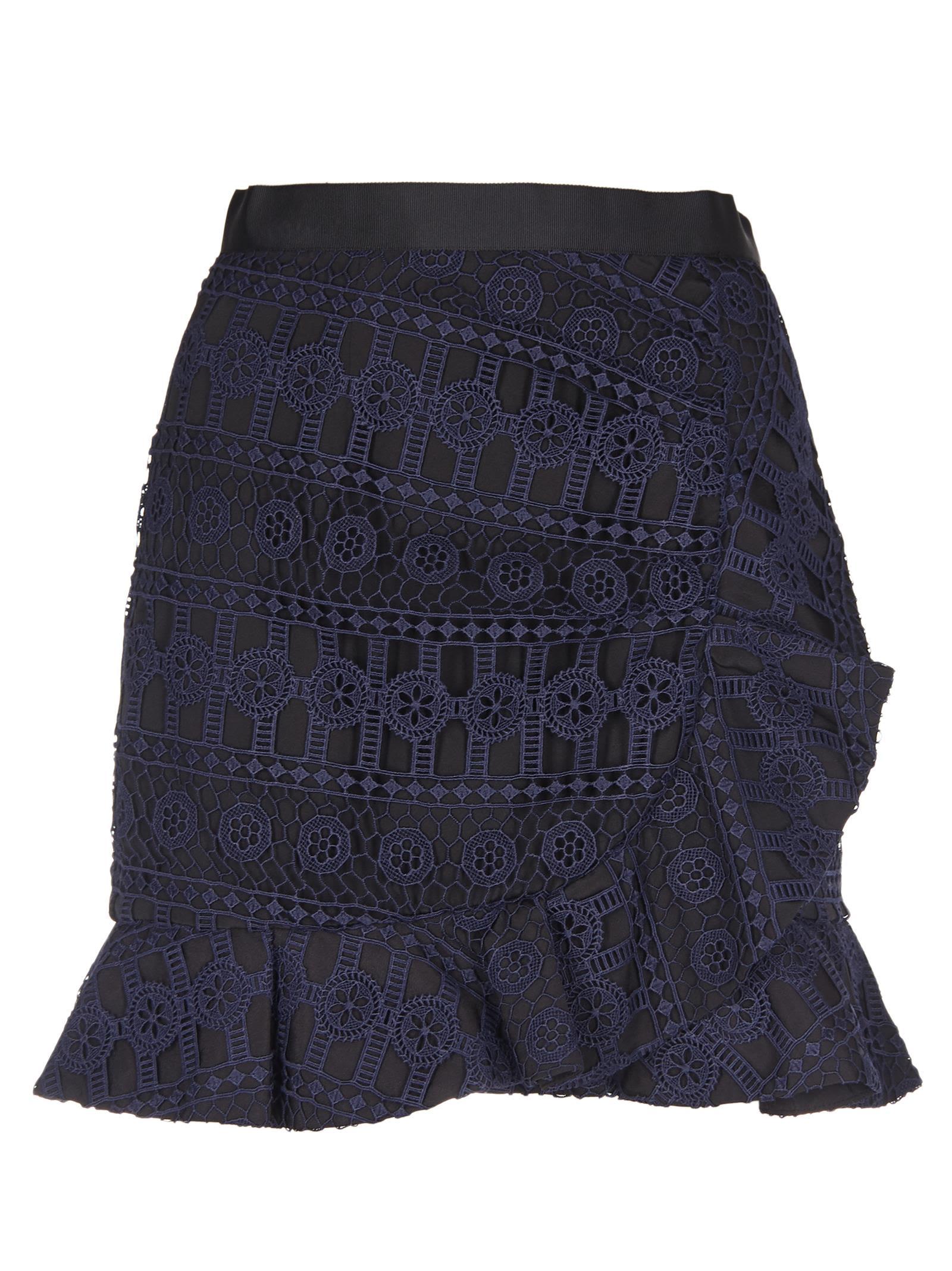 Self-portrait Lace Frill Mini Skirt