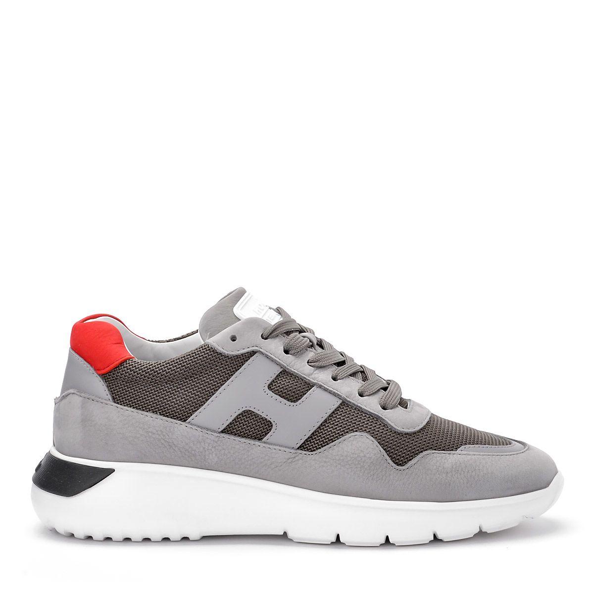 Hogan Interactive³ Grey Nubuk Sneakers