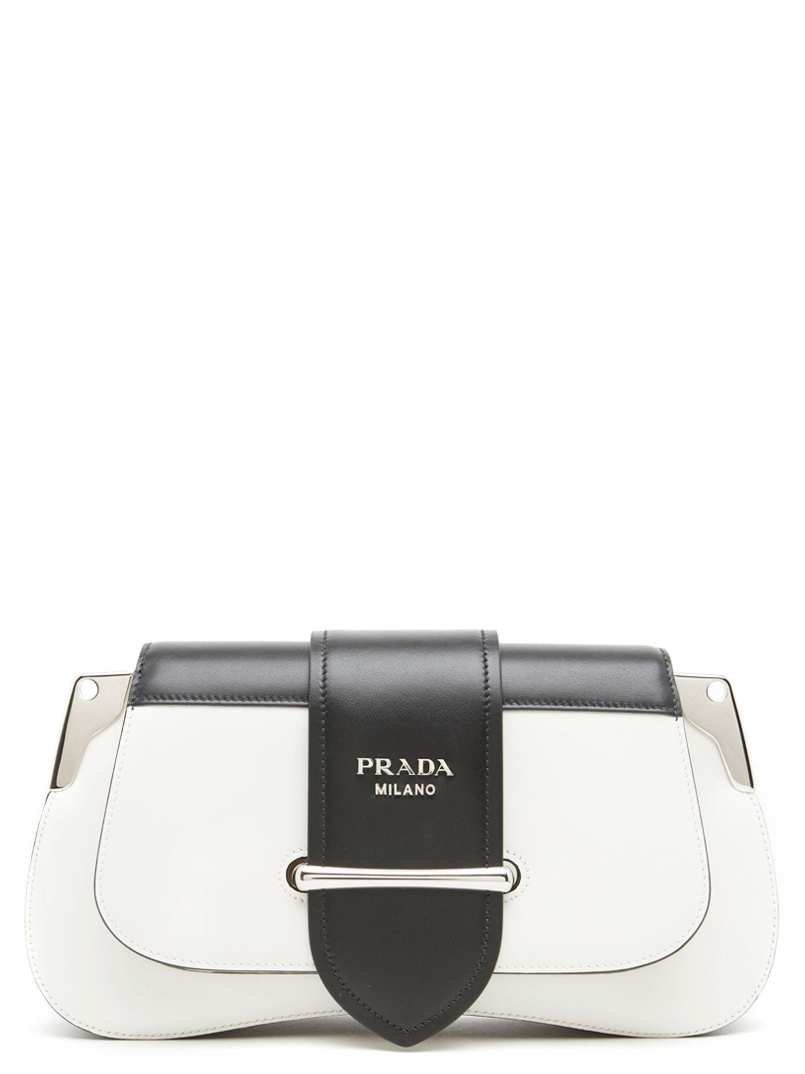 5a4b636ad5b Shop Prada  Sidonie  Bag In Black   White
