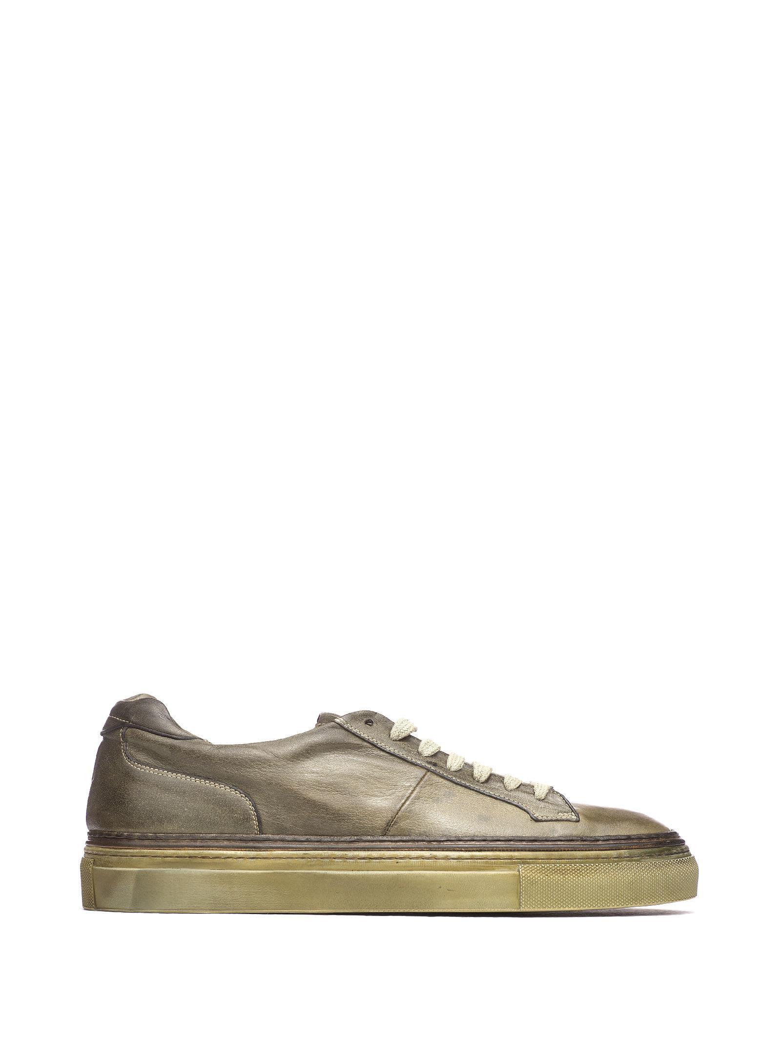 Corvari Green Leather Sneakers
