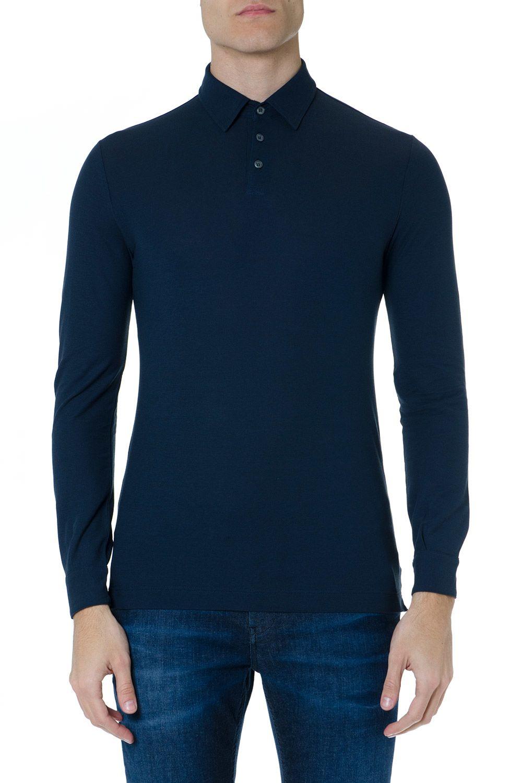Zanone Blue Cotton Polo Shirt