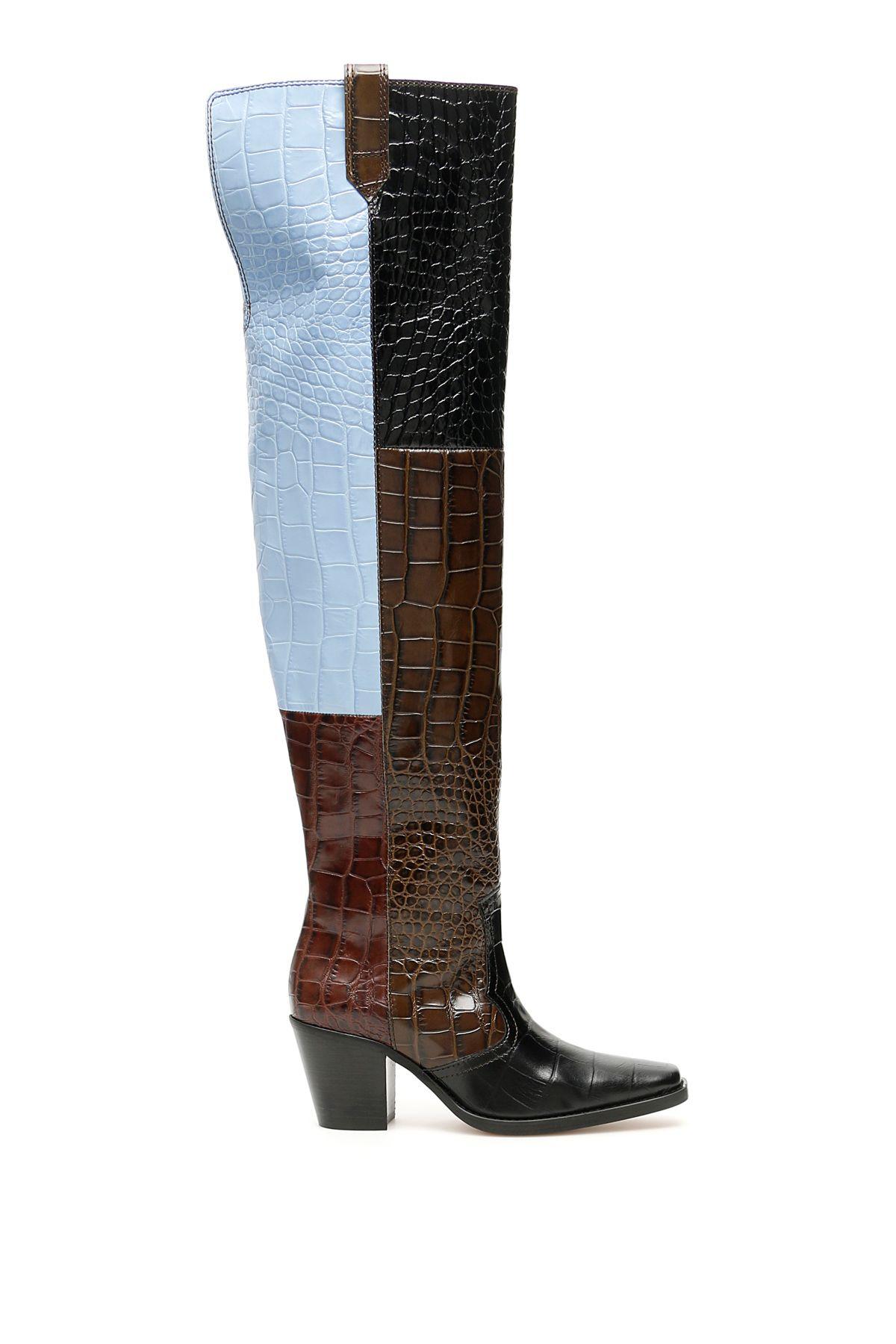 Ganni Boots THIGH-HIGH BOOTS
