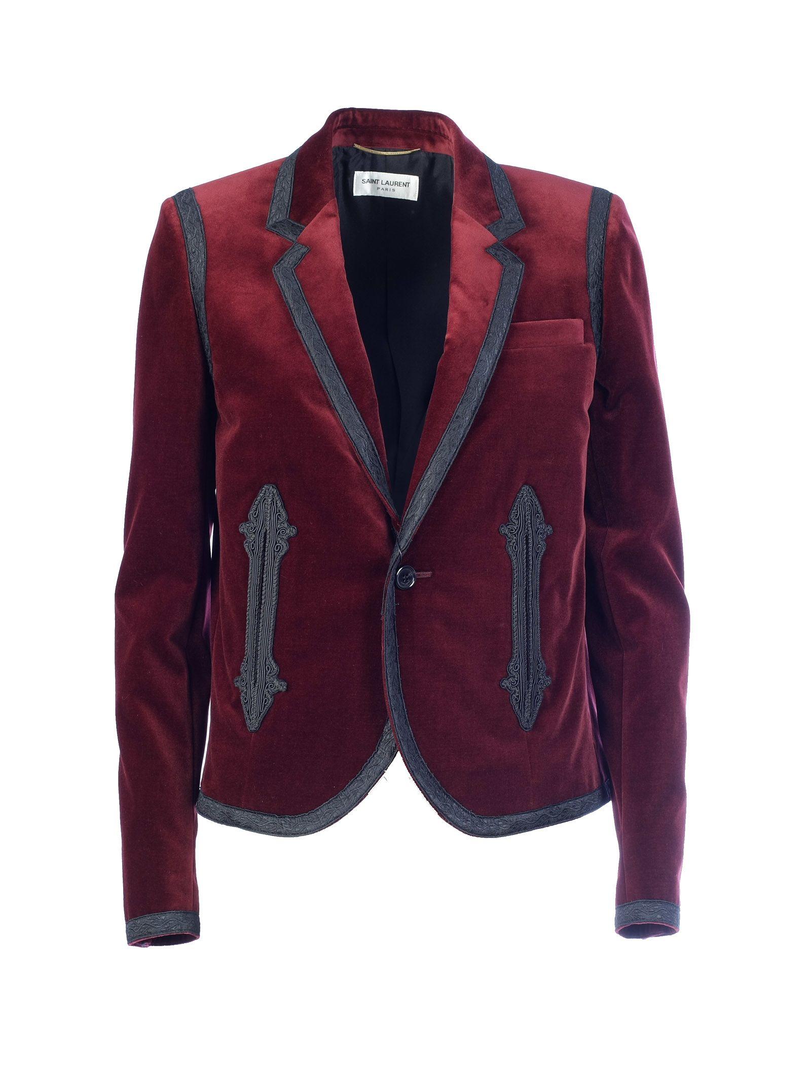Saint Laurent Boxy Embroidered Blazer