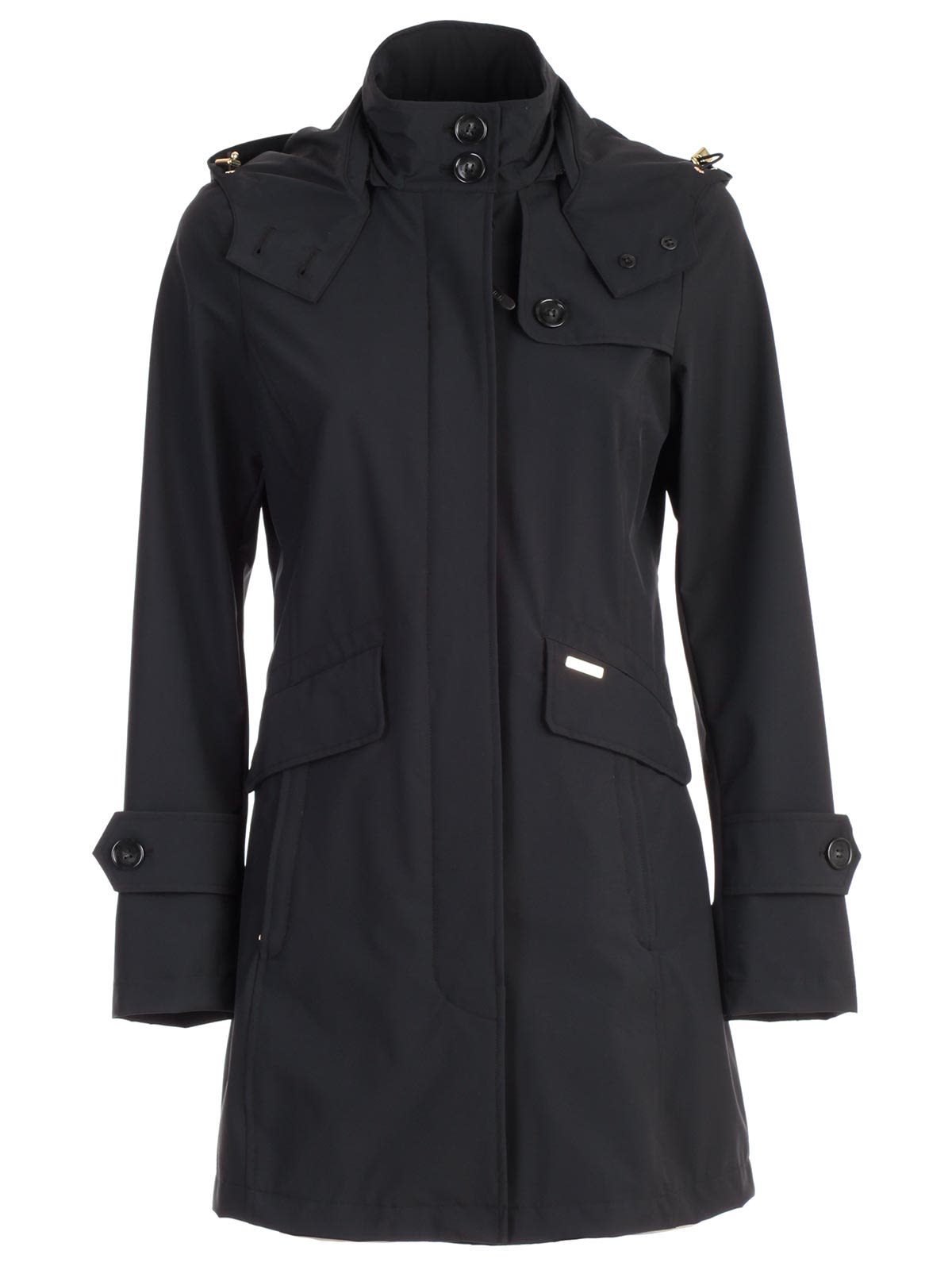 Woolrich Stretched Hooded Trench