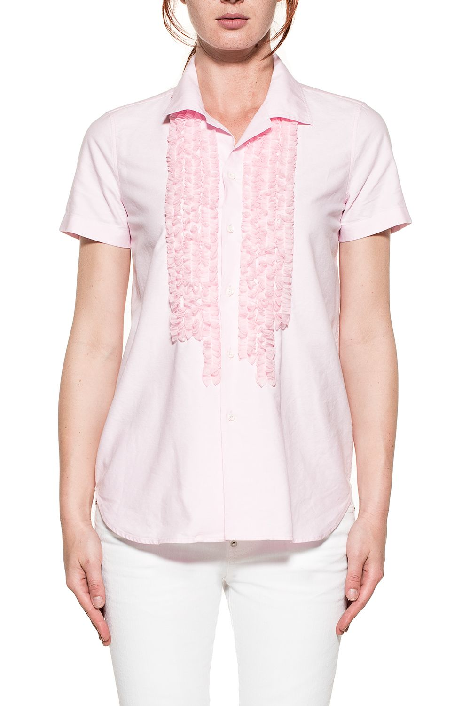 Dsquared2 Pink Ruffled Shirt