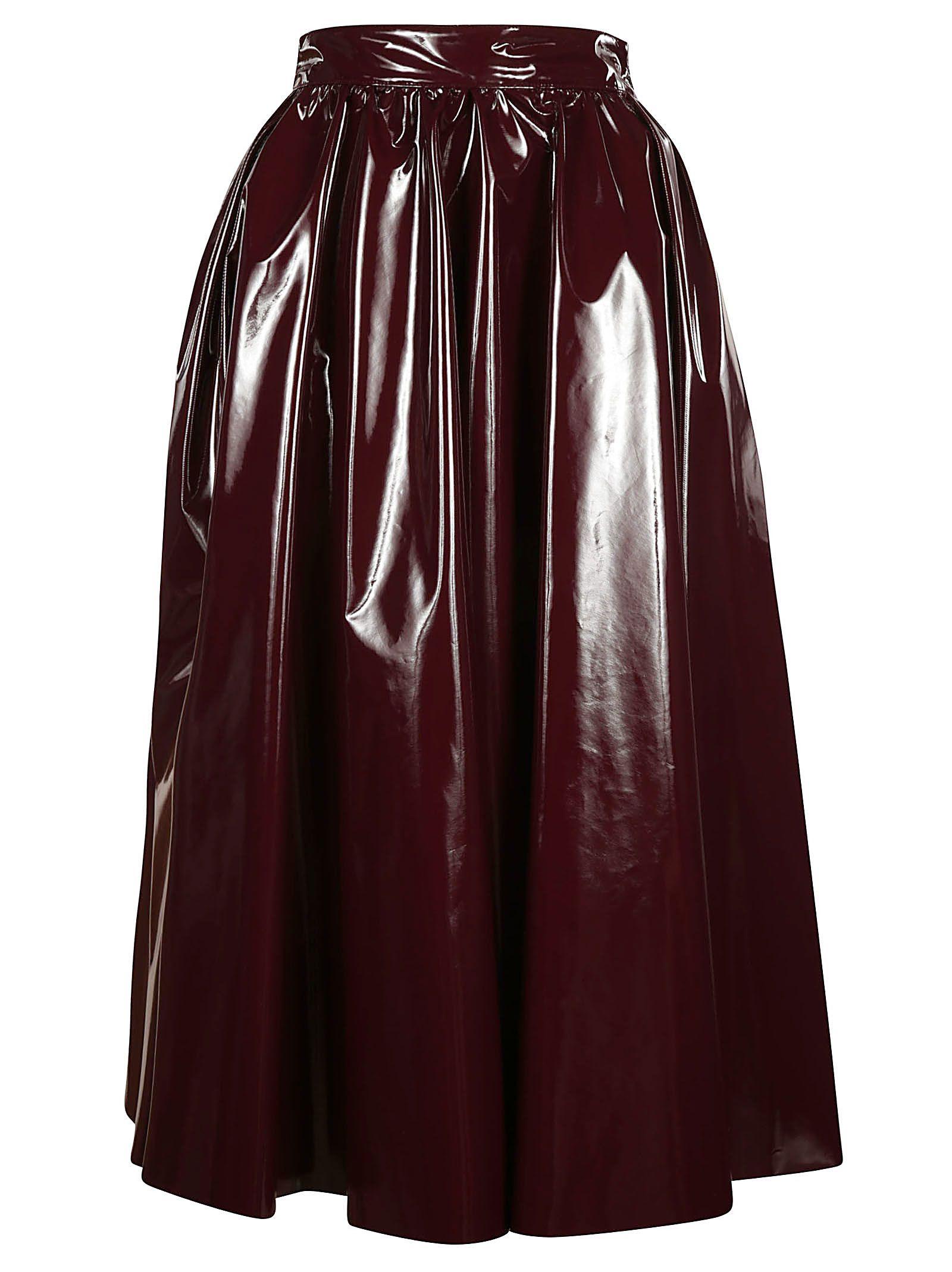 msgm -  Pleated Midi Skirt