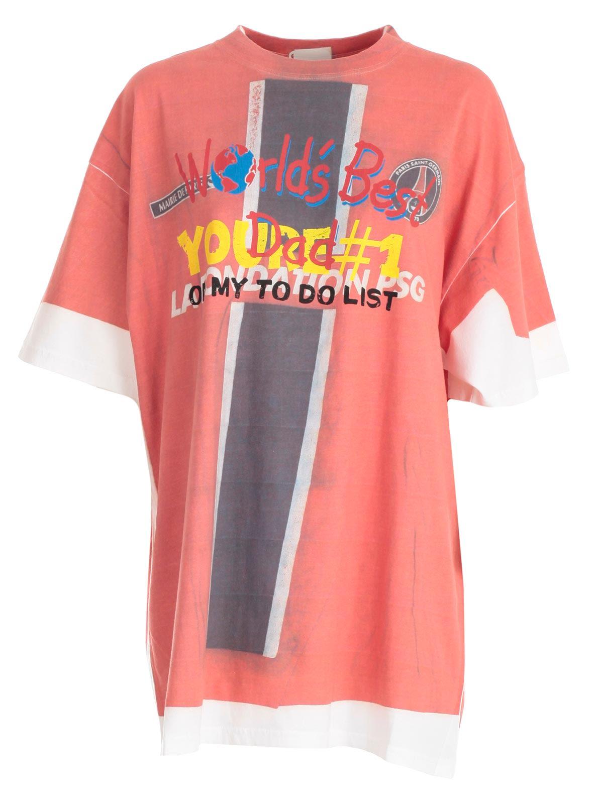 "T-shirt Demna`s ""best Dad"""