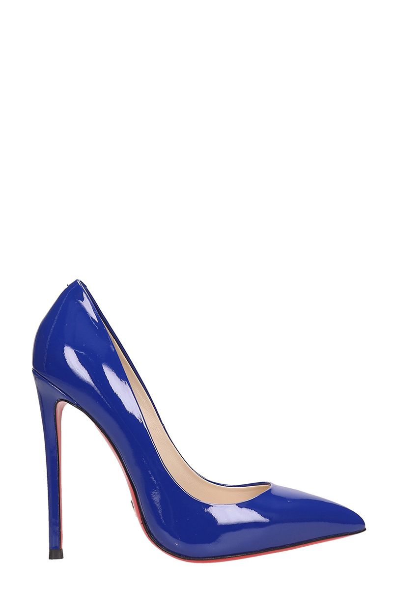 Gianni Renzi Blue Patent Leather Pumps