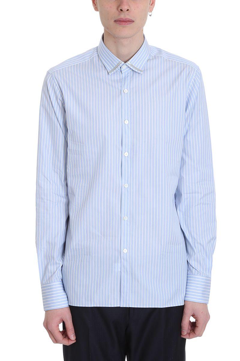Lanvin Light Blue Cotton Shirt