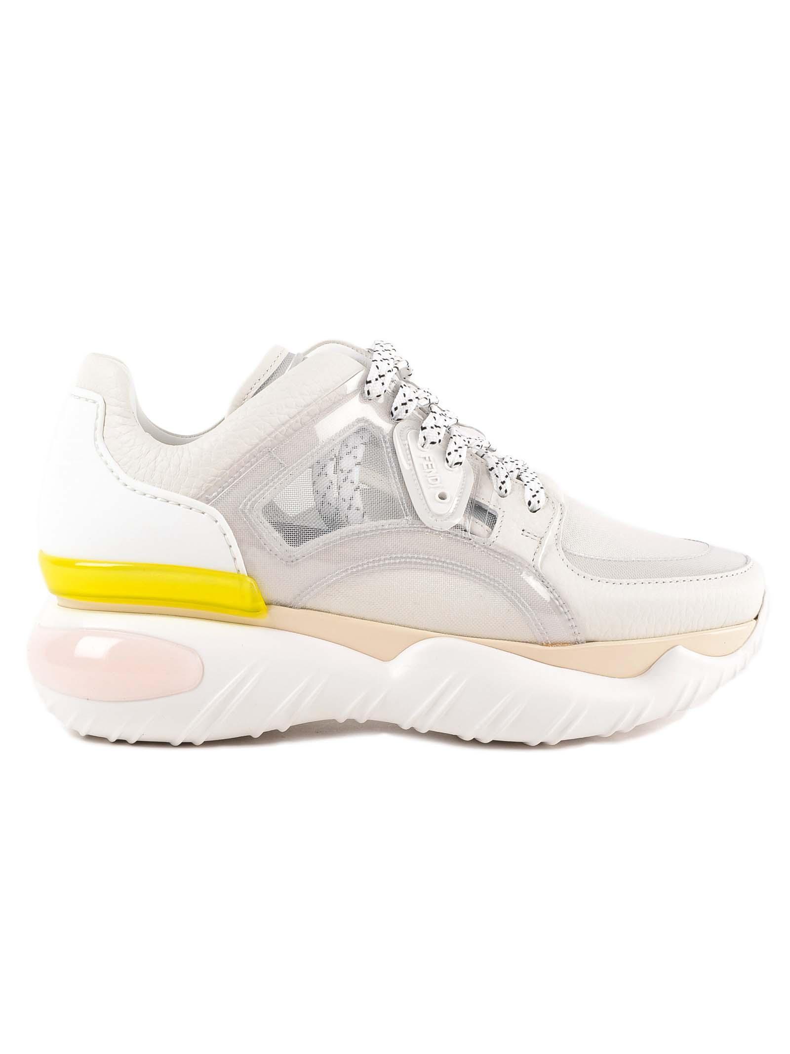 fendi -  Sheer Panel Sneakers